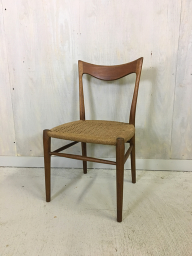 Danish Modern Teak Danish Cord Accent Chair Boston MA