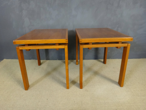 Mid Century Danih Modern Teak Side Tables