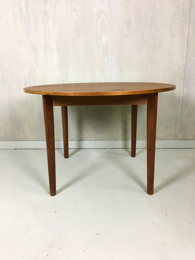 Danish Modern Teak Round Dining Table