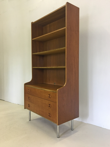 Danish Modern Teak Secretary with Shelves