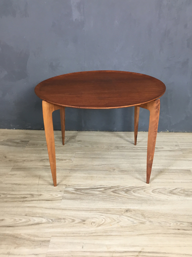 Mid Century Teak TrayTop Side Table in Style of Fritz Hansen Boston