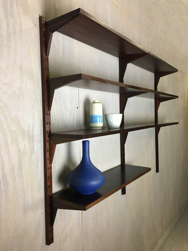 Rosewood WallMounted Shelving form Denmark