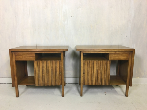 Mid Century John Widdicomb Bedside Tables Nightstands
