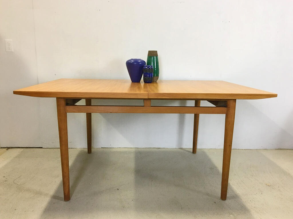Milo Baughman for Drexel Blond Dining Table