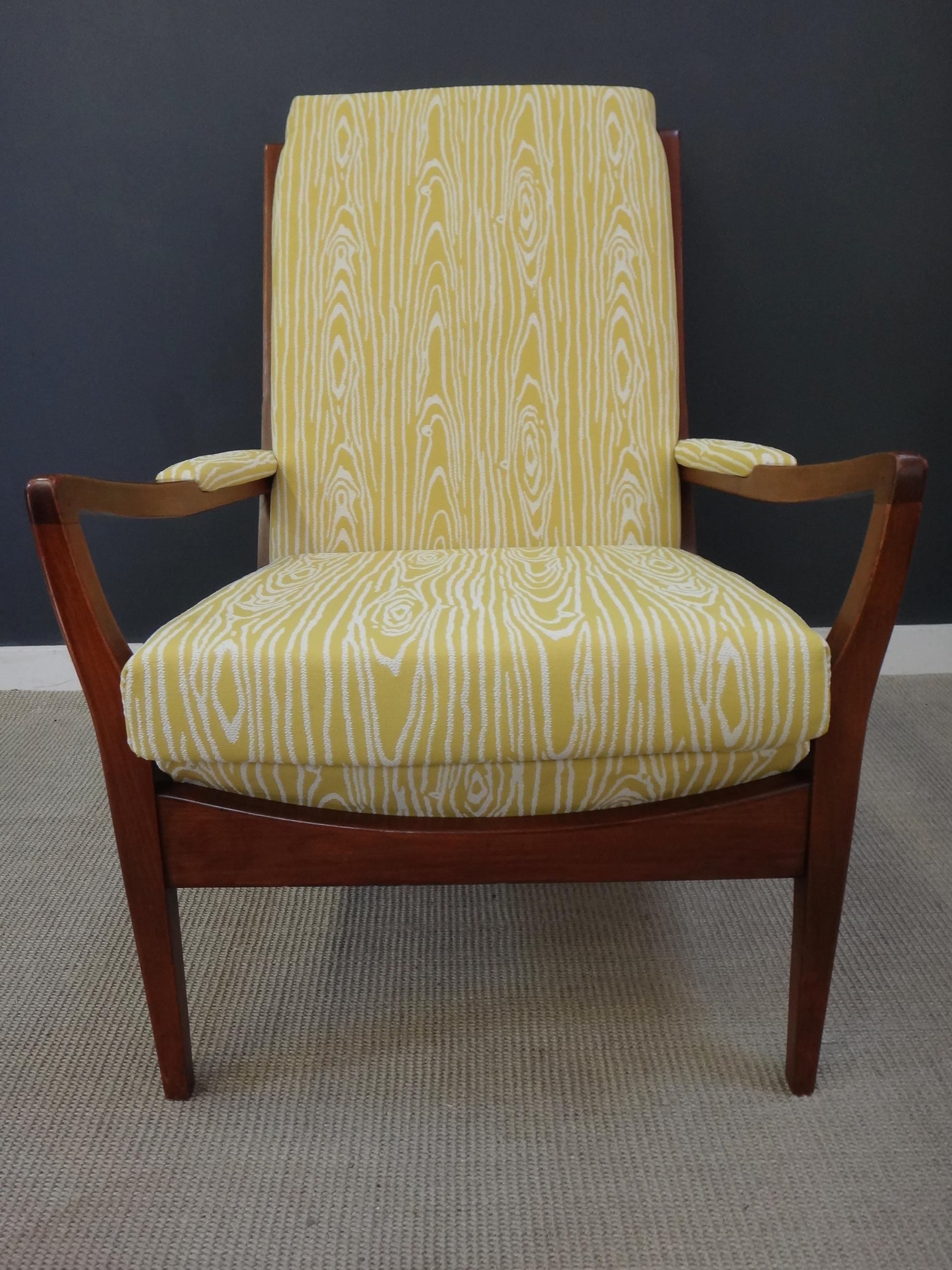 Mid Century British Upholstered Lounge Chair