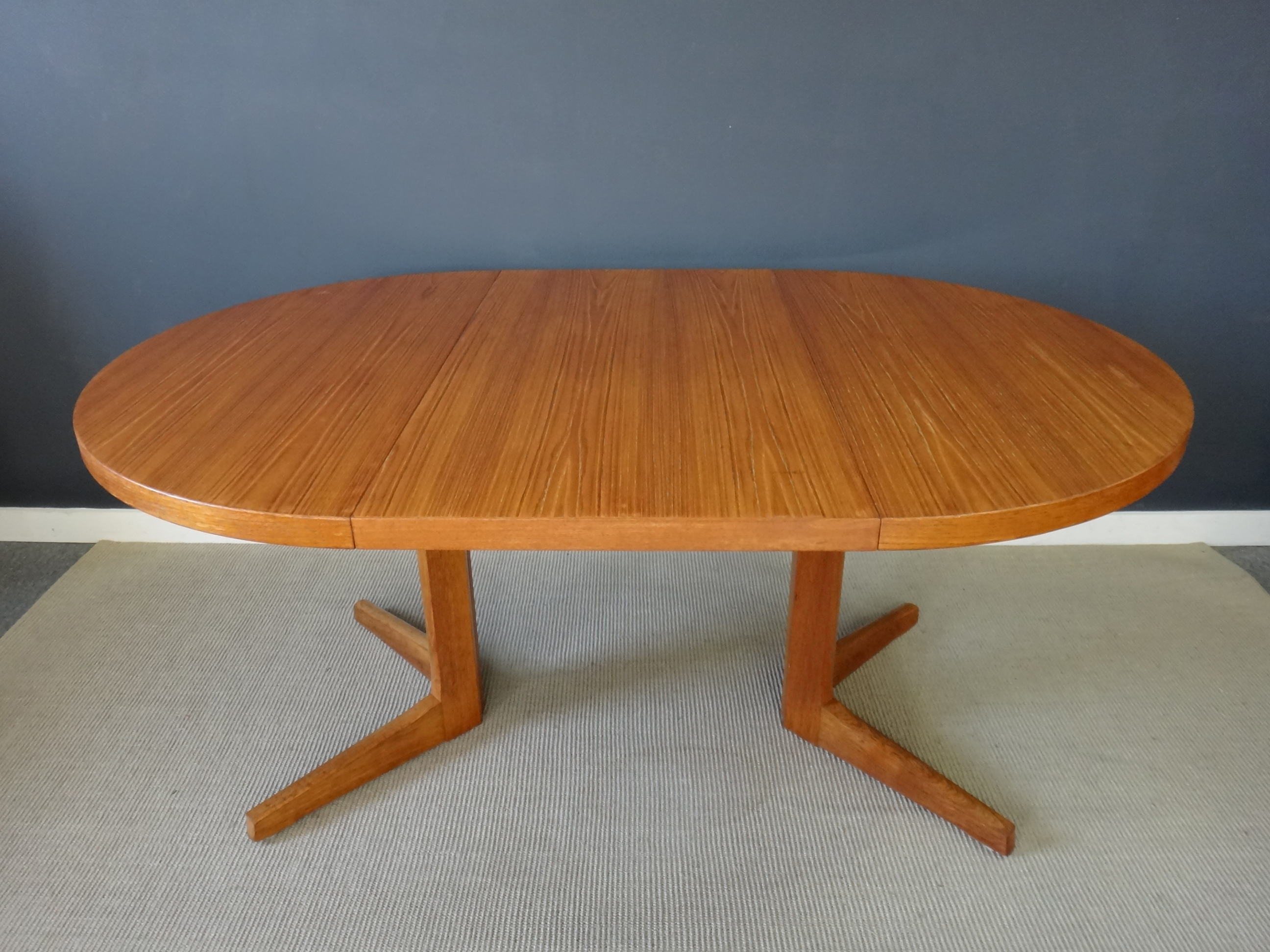 Round Danish Modern Teak Dining Table