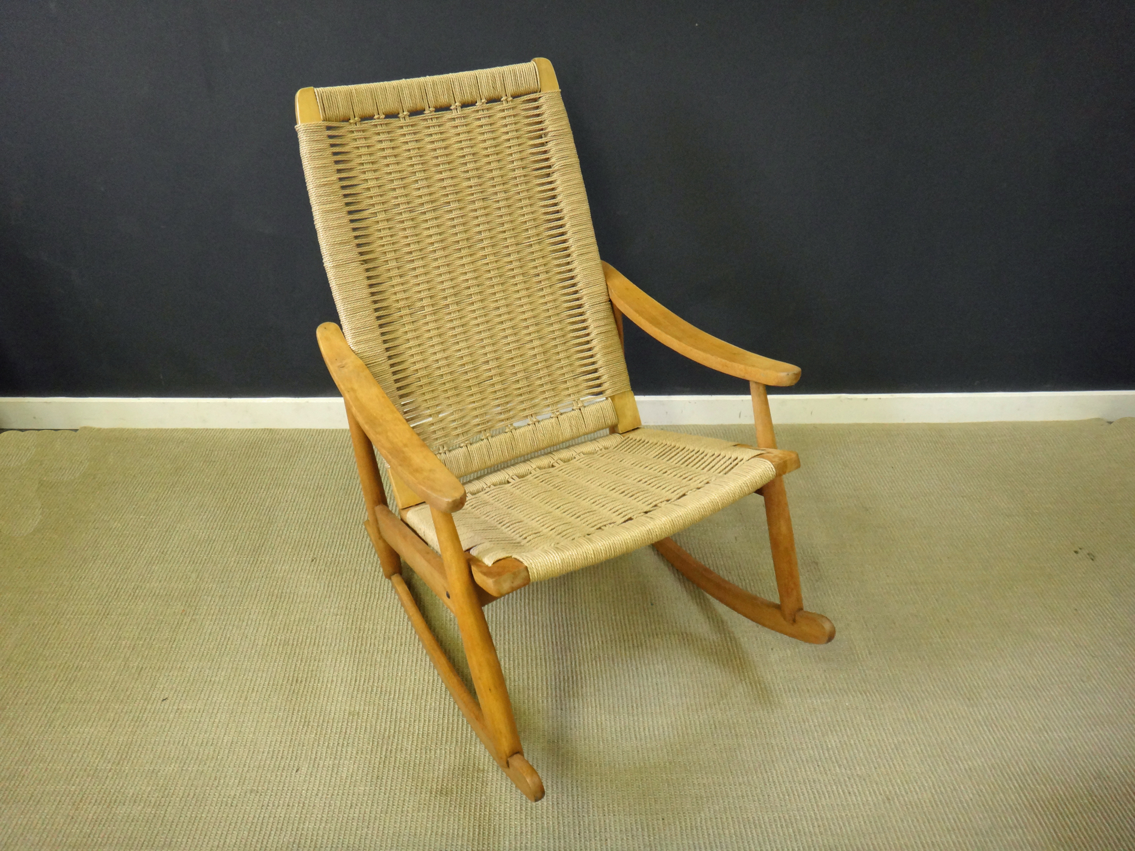 Danish Cord Rocker Retrocraft Design Collection Sold
