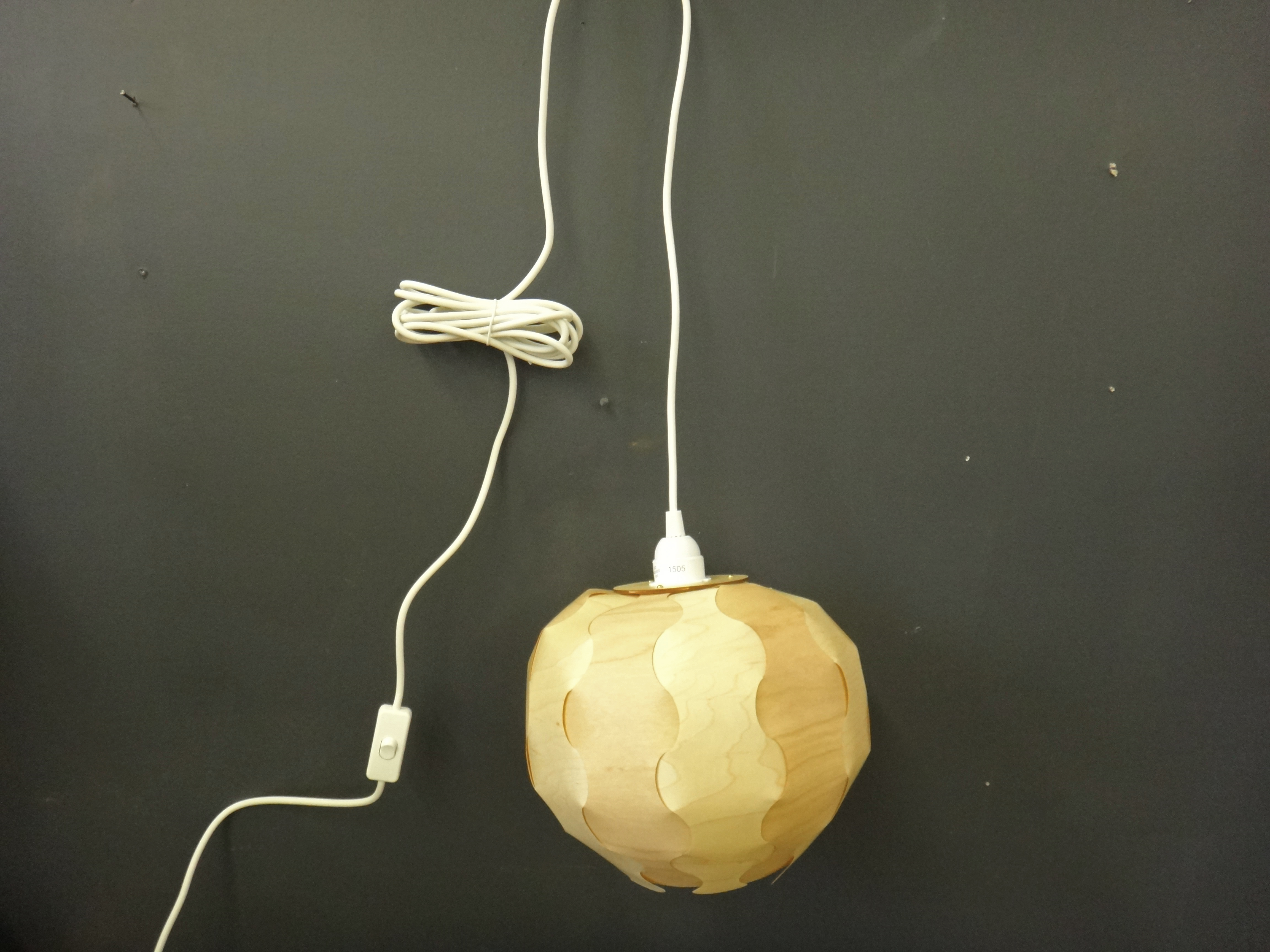 SALE - Wood Veneer Globe Lamp