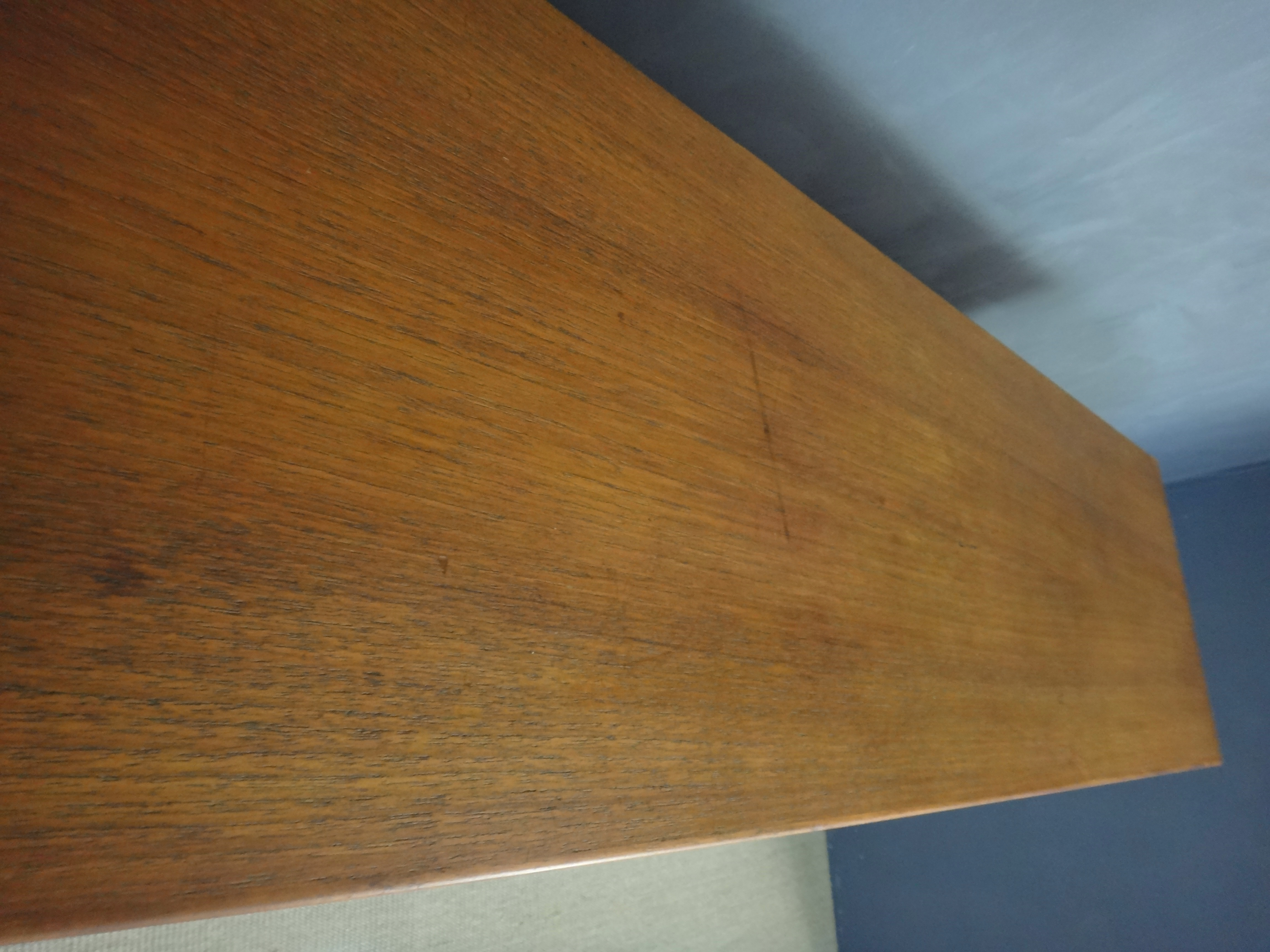 Teak Floating Wall Unit