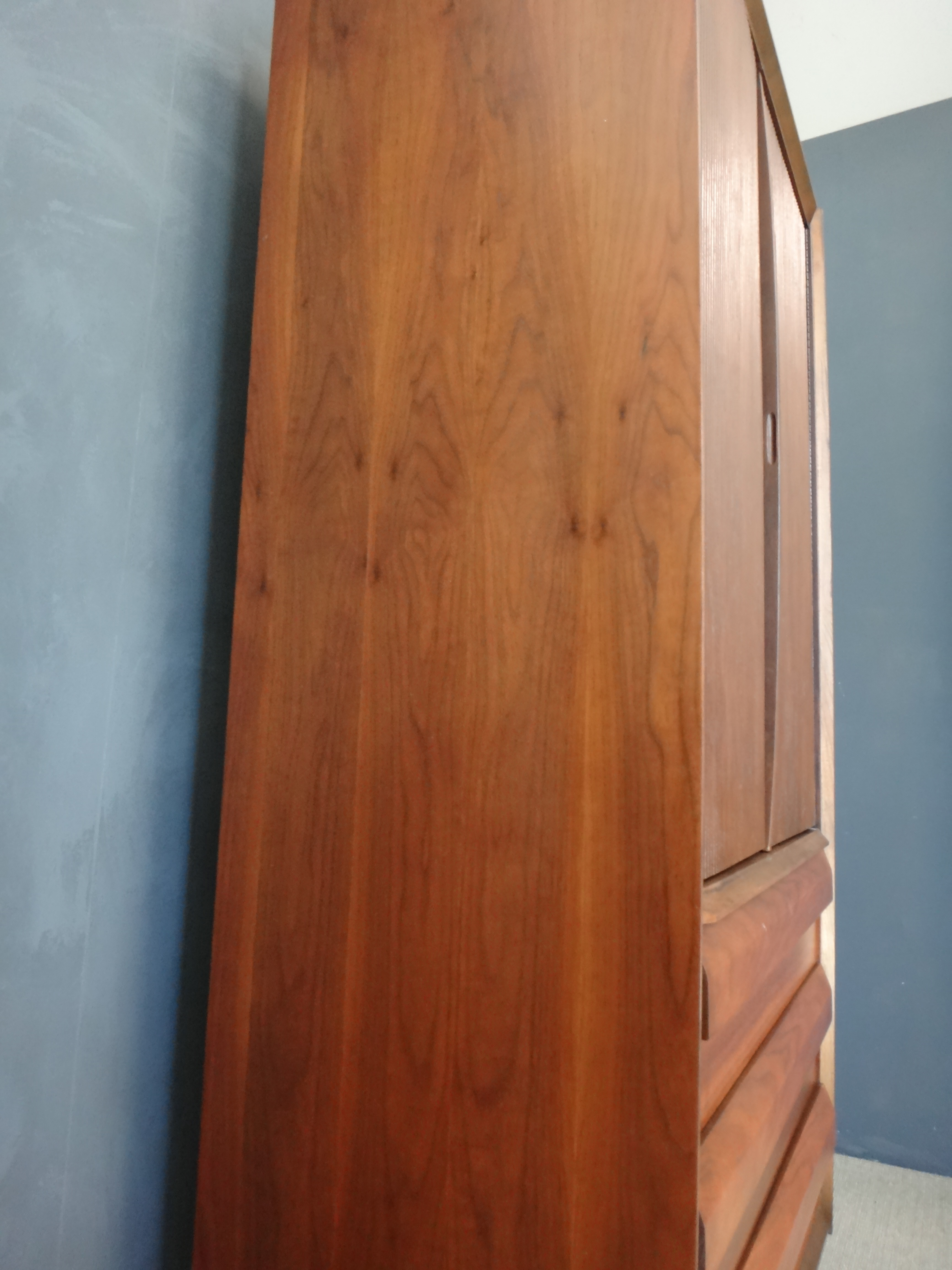 Lane Walnut Highboy/Wardrobe