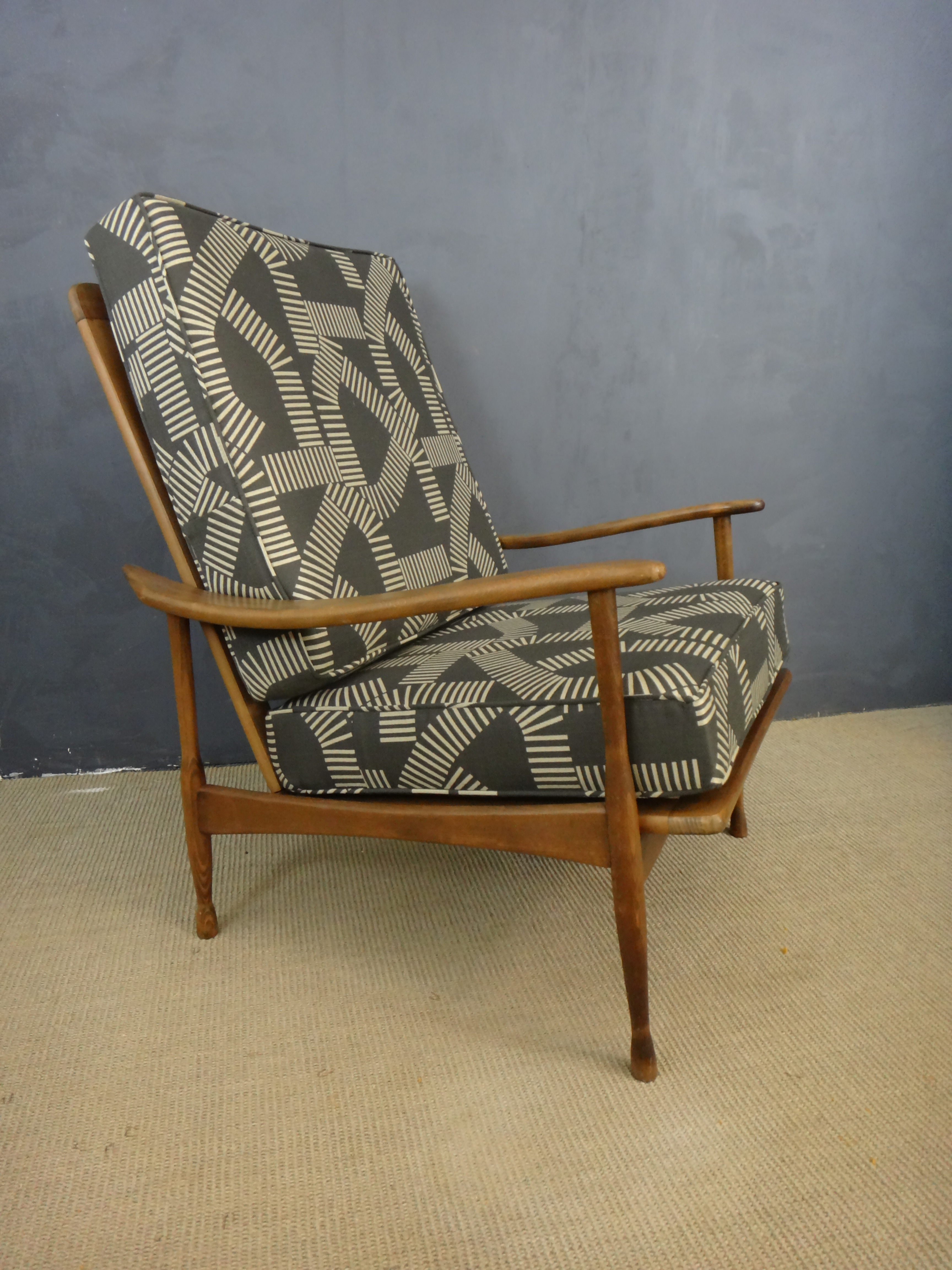 Re Upholstered Mid Century Lounge Chair