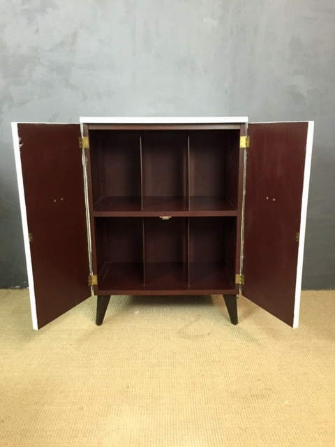 Mid Century Painted Record Cabinet