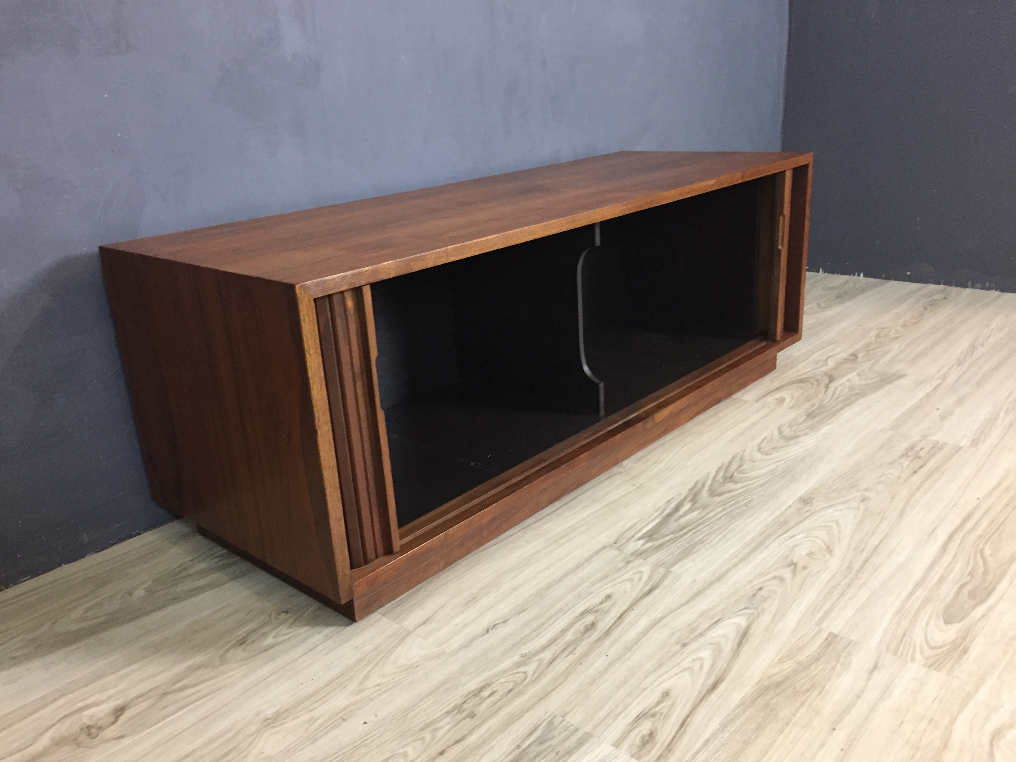 Glenn of California Tambour Door Walnut Credenza