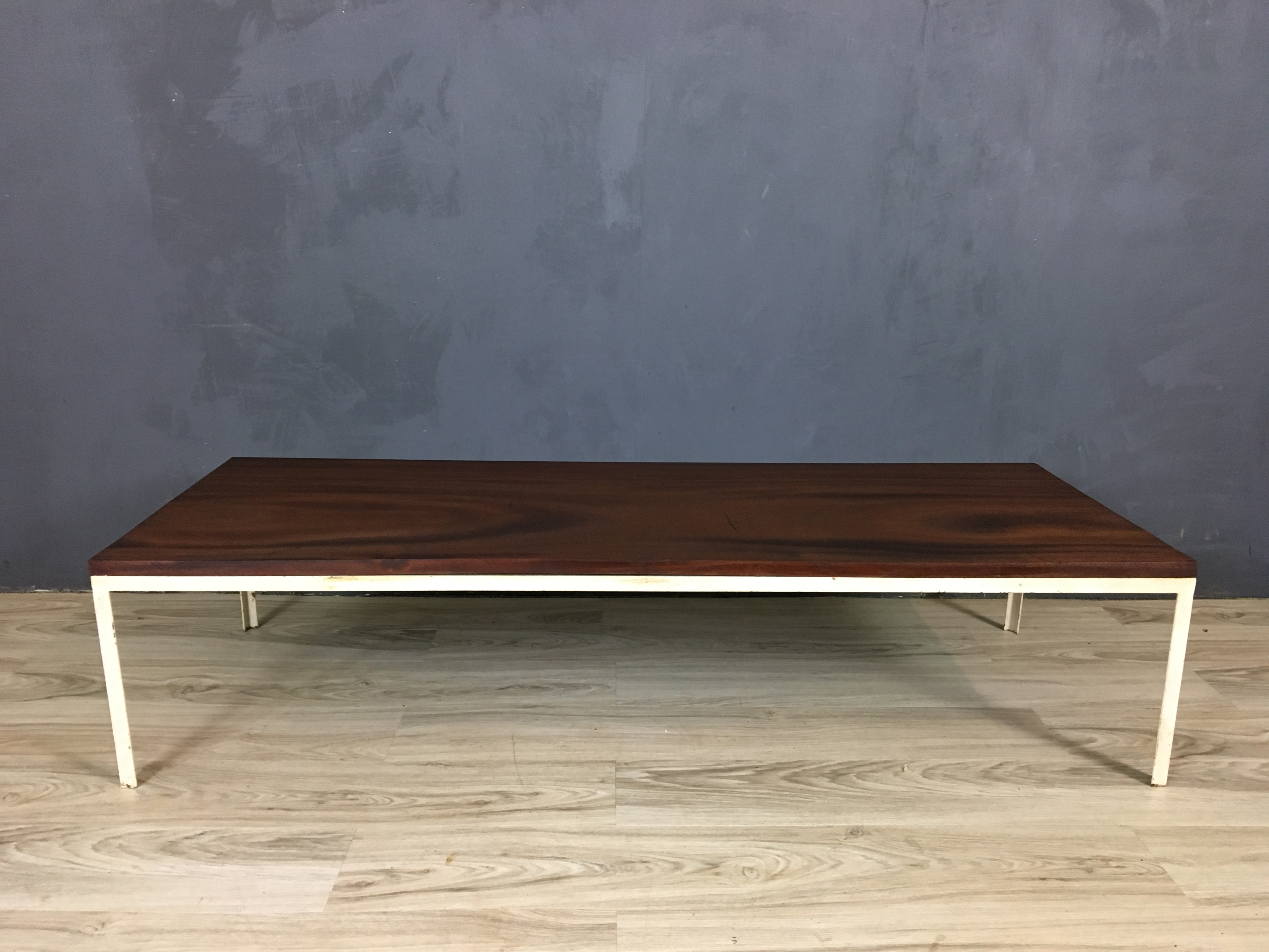 SALE - Mid Century Walnut Coffee Table with Metal Frame