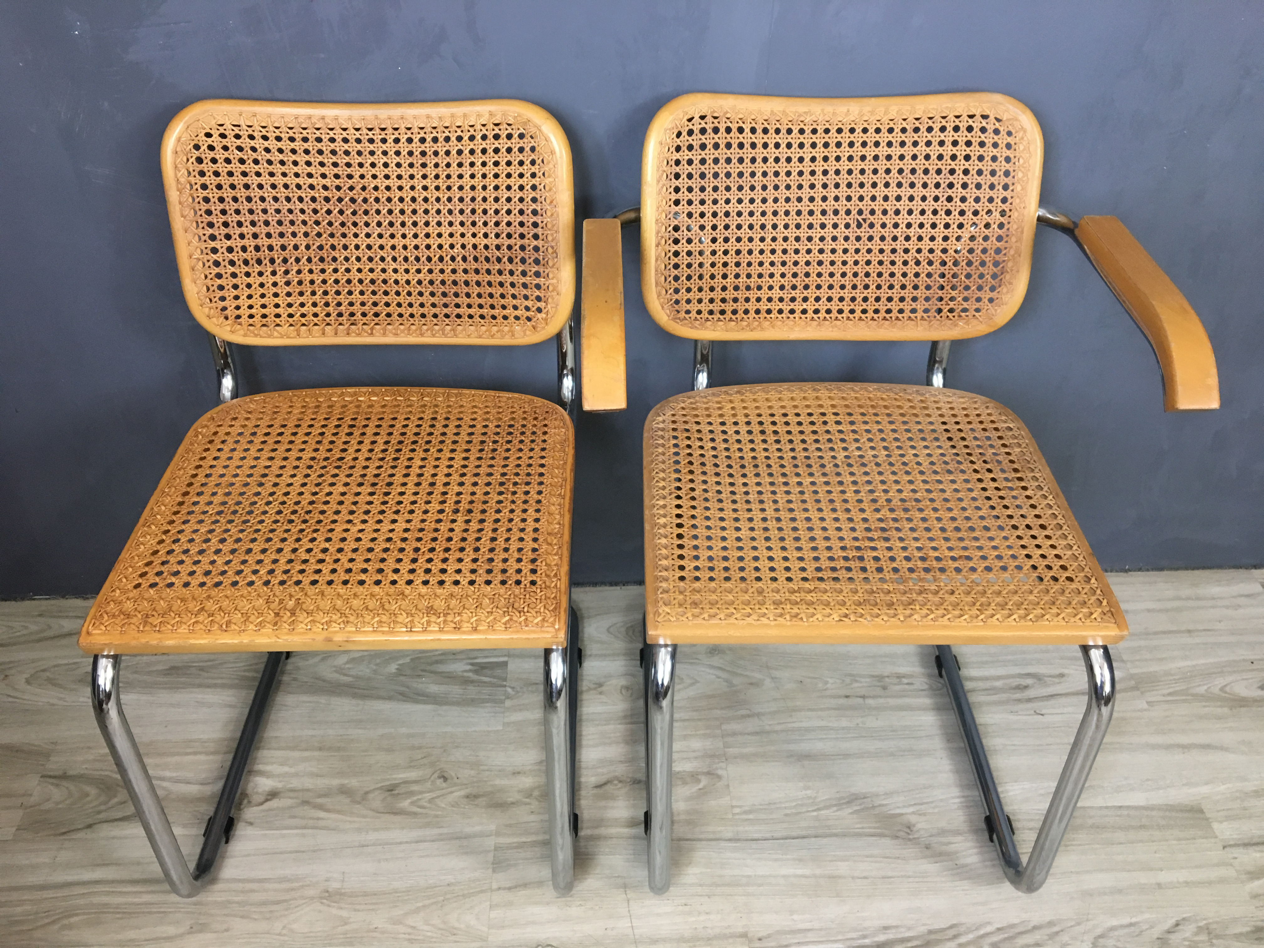 Set of Four Marcel Breuer Style Chairs