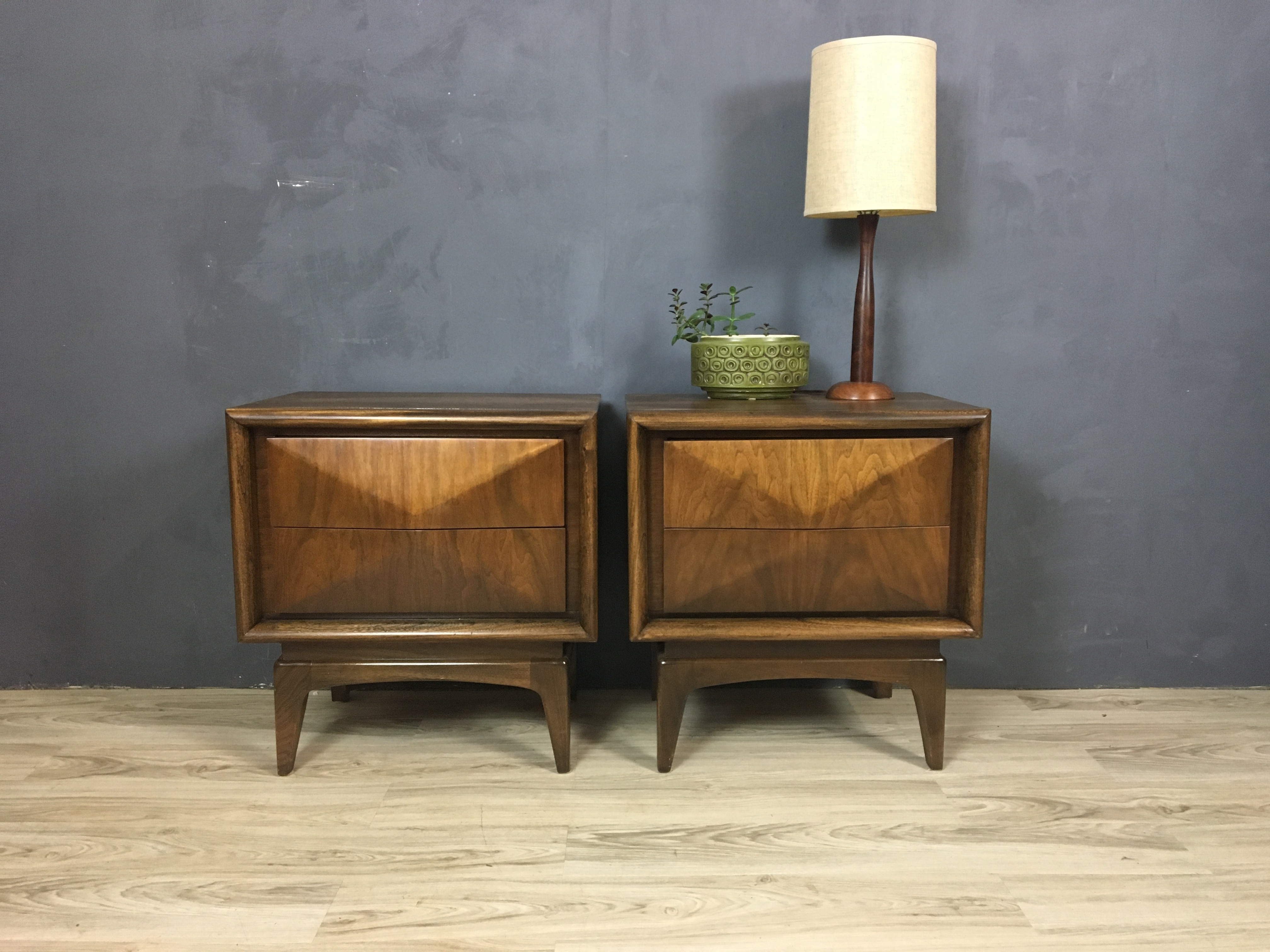 Pair of Danish Modern Teak Table Lamps