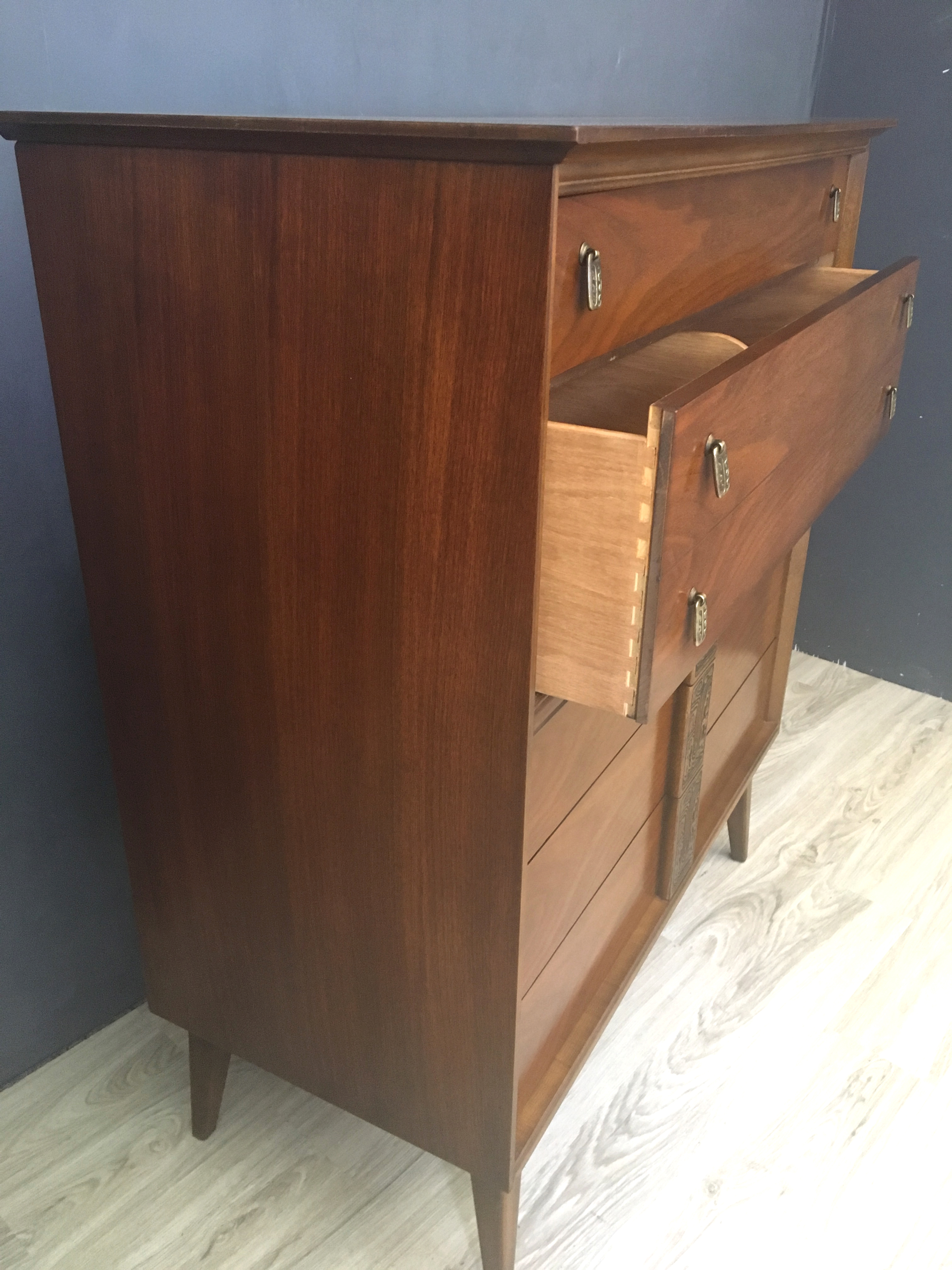 Bassett Quot Mayan Quot Collection Highboy Bureau Retrocraft Design Collection Sold Items