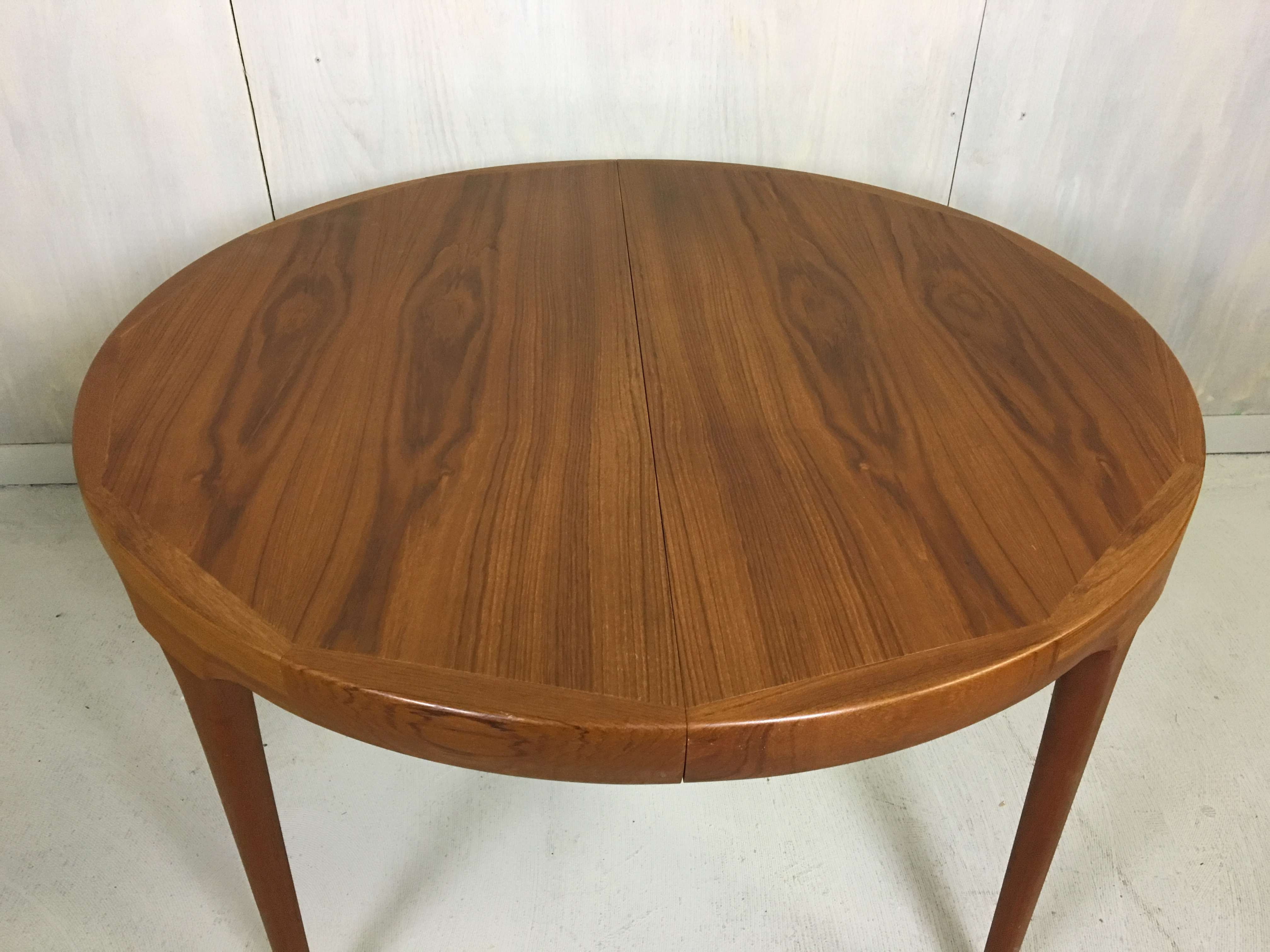 Danish Modern Ib Kofod-Larsen Extending Teak Dining Table