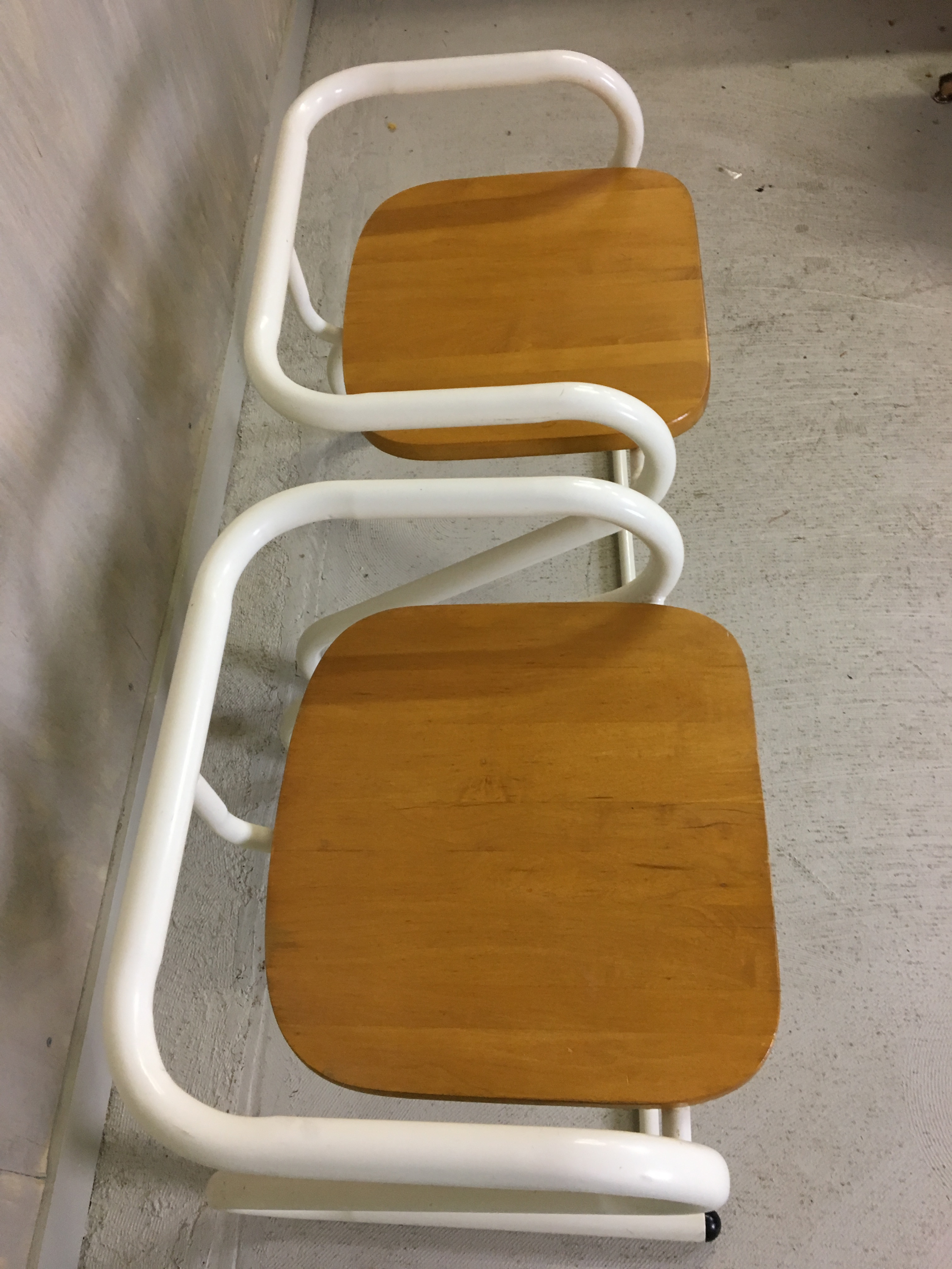 Pair of Amisco Tubular Steel Chairs