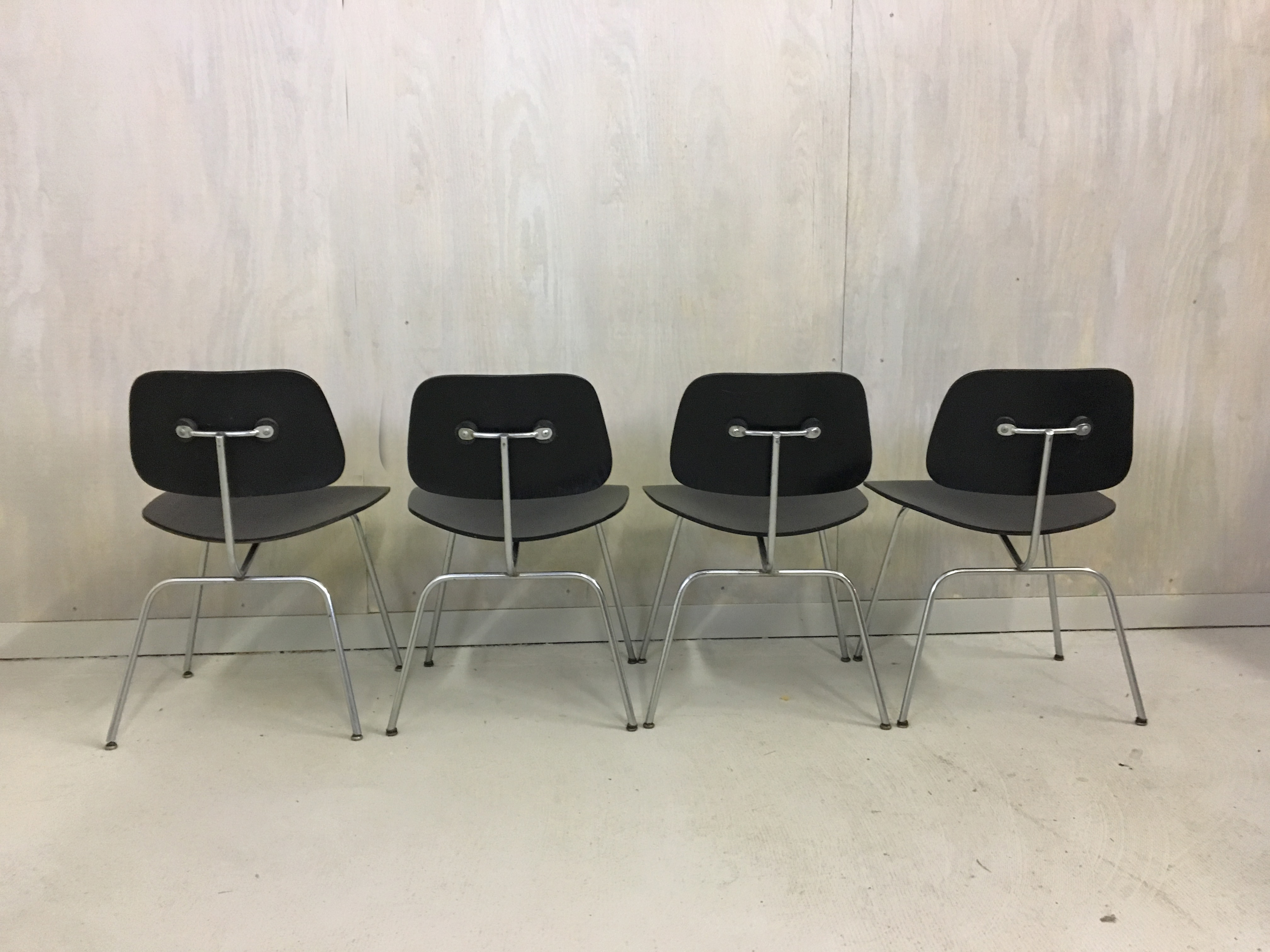 Set of Four Eames Bent Plywood Chairs