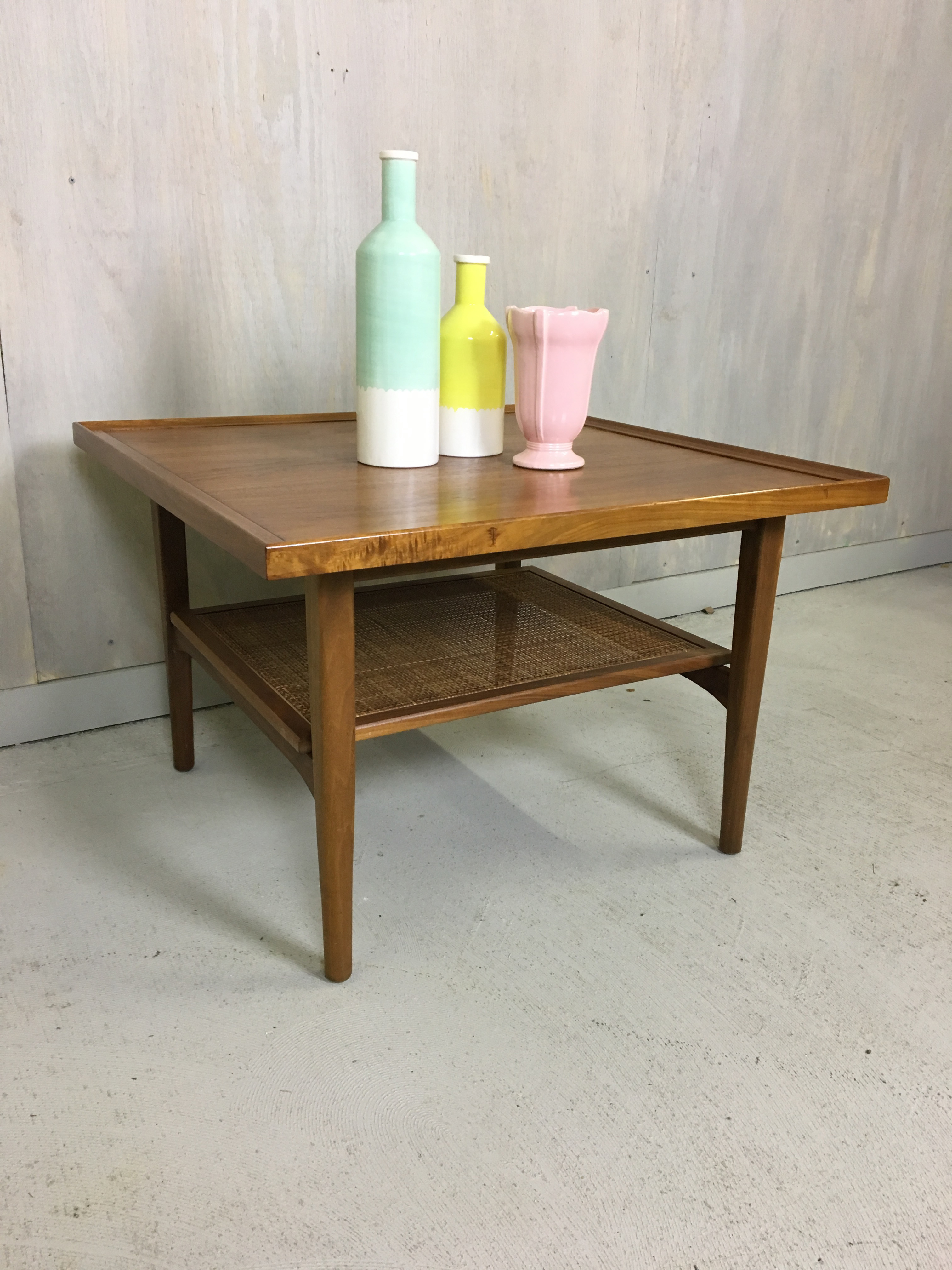 Kipp Stewart for Drexel Declaration Walnut Coffee Table/Side Table