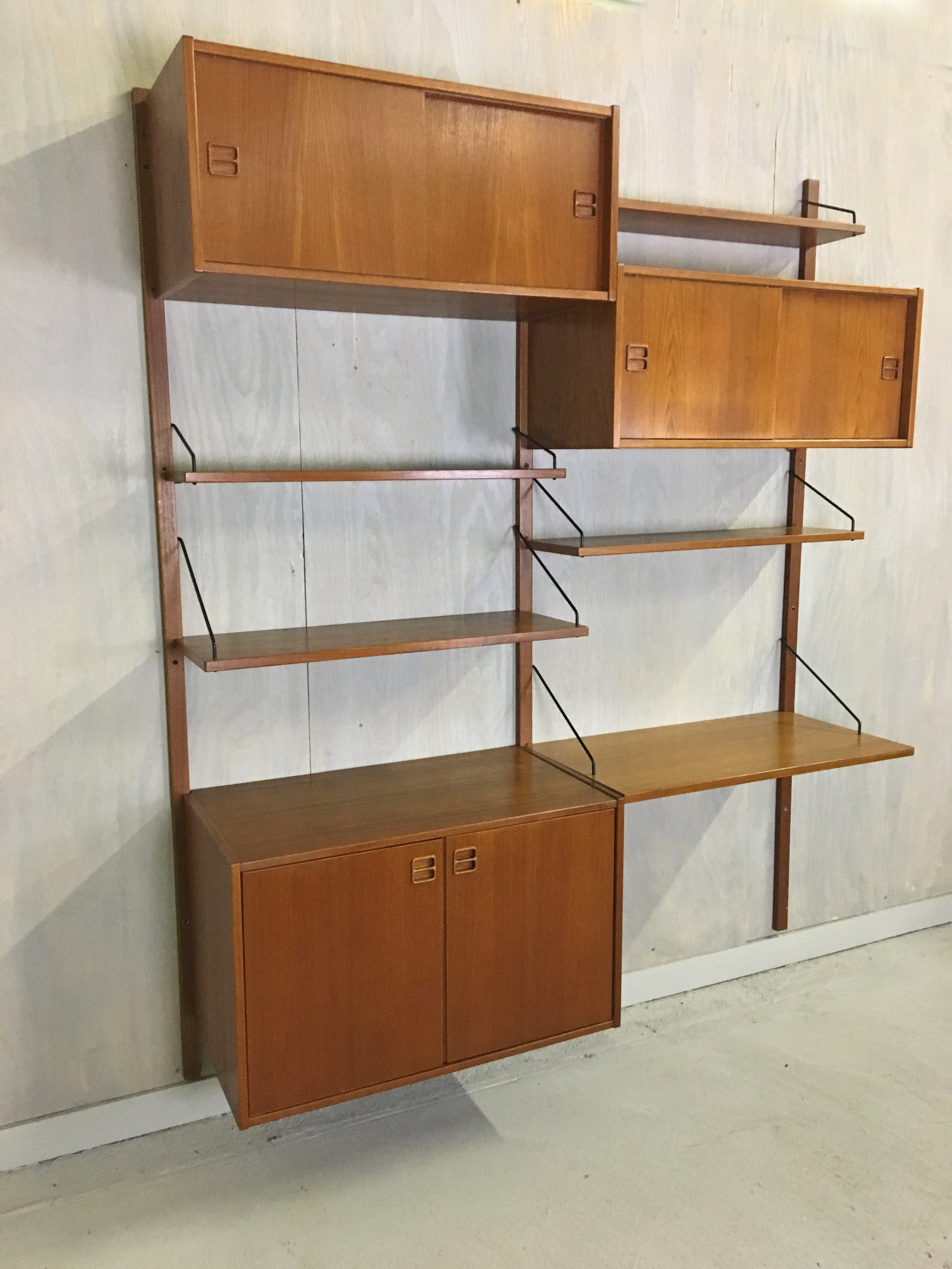 Teak Wall Mounted Unit by Poul Cadovius