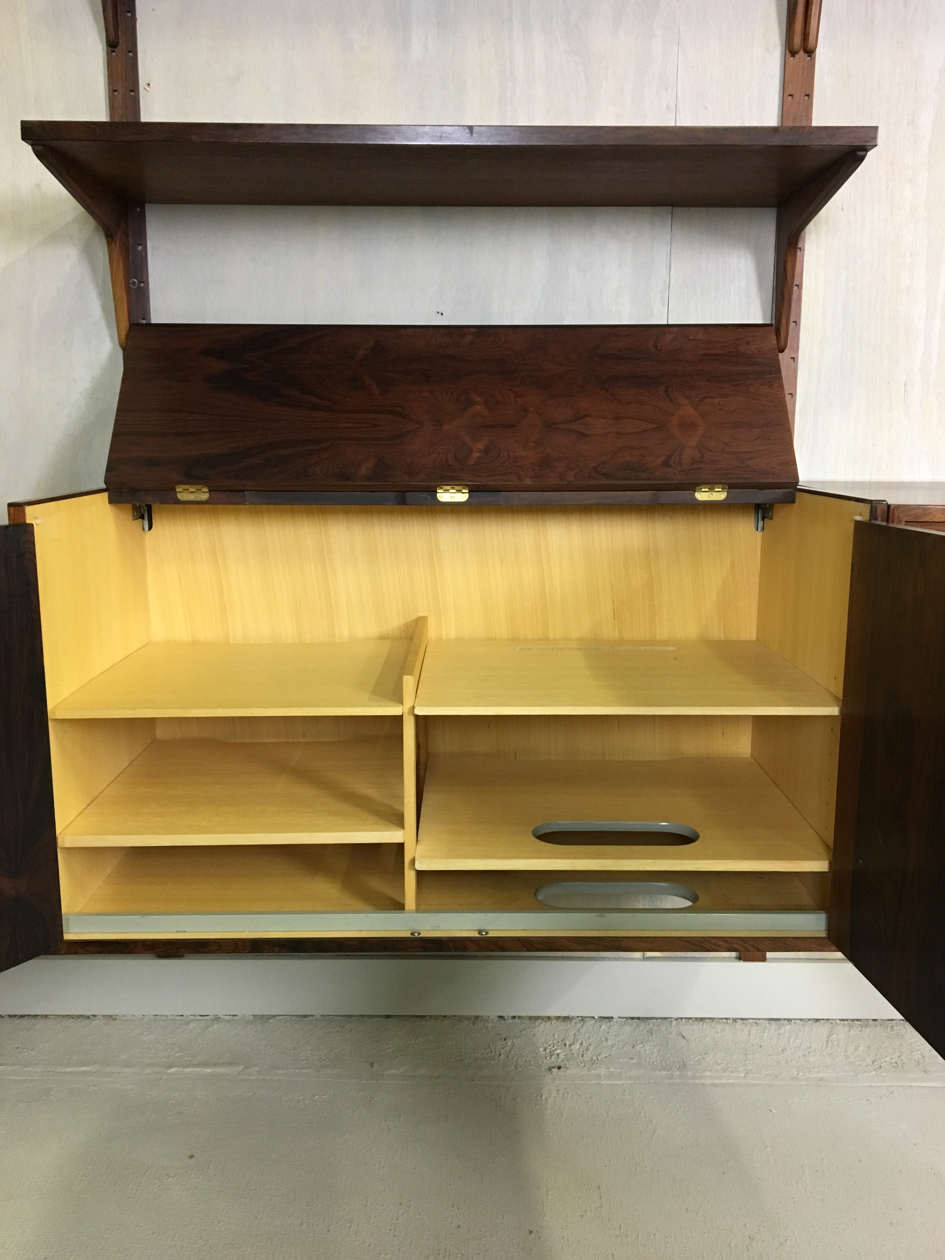 HG Danish Rosewood Wall Mounted Unit by Rud Thygesen and Johnny Sorenson