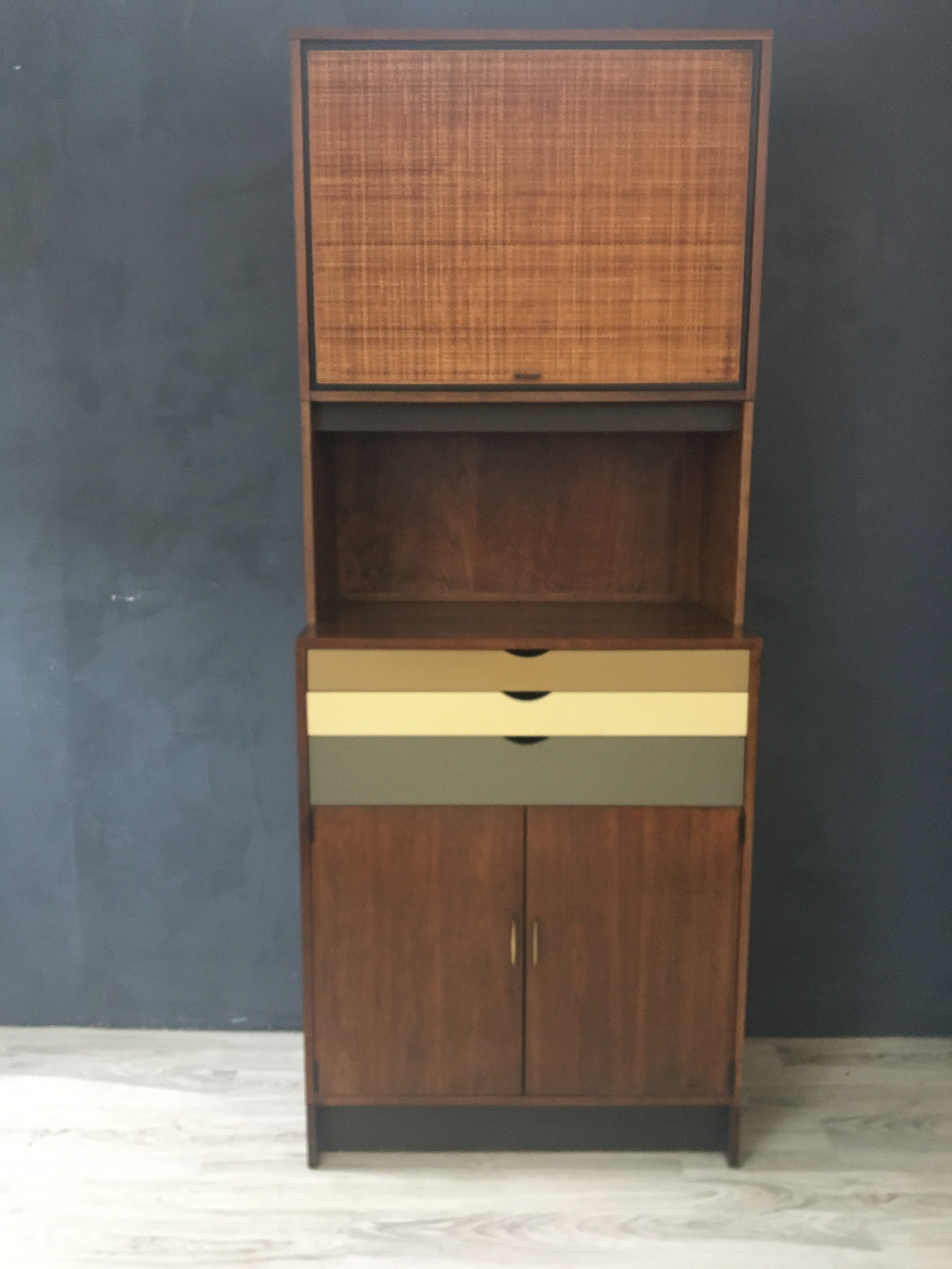 Custom Walnut Wall Cabinet