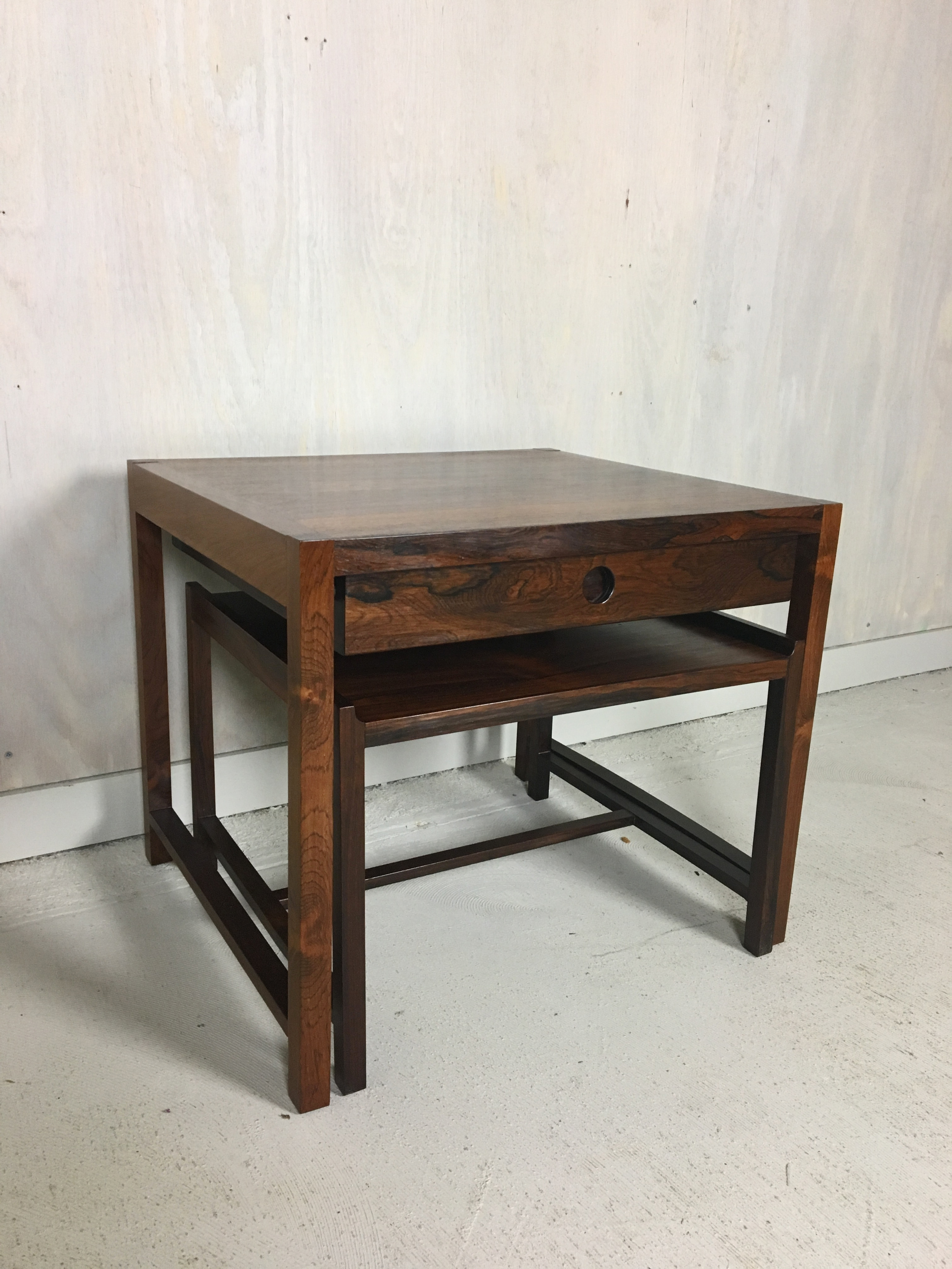Sykkylven of Norway Rosewood Nesting Tables