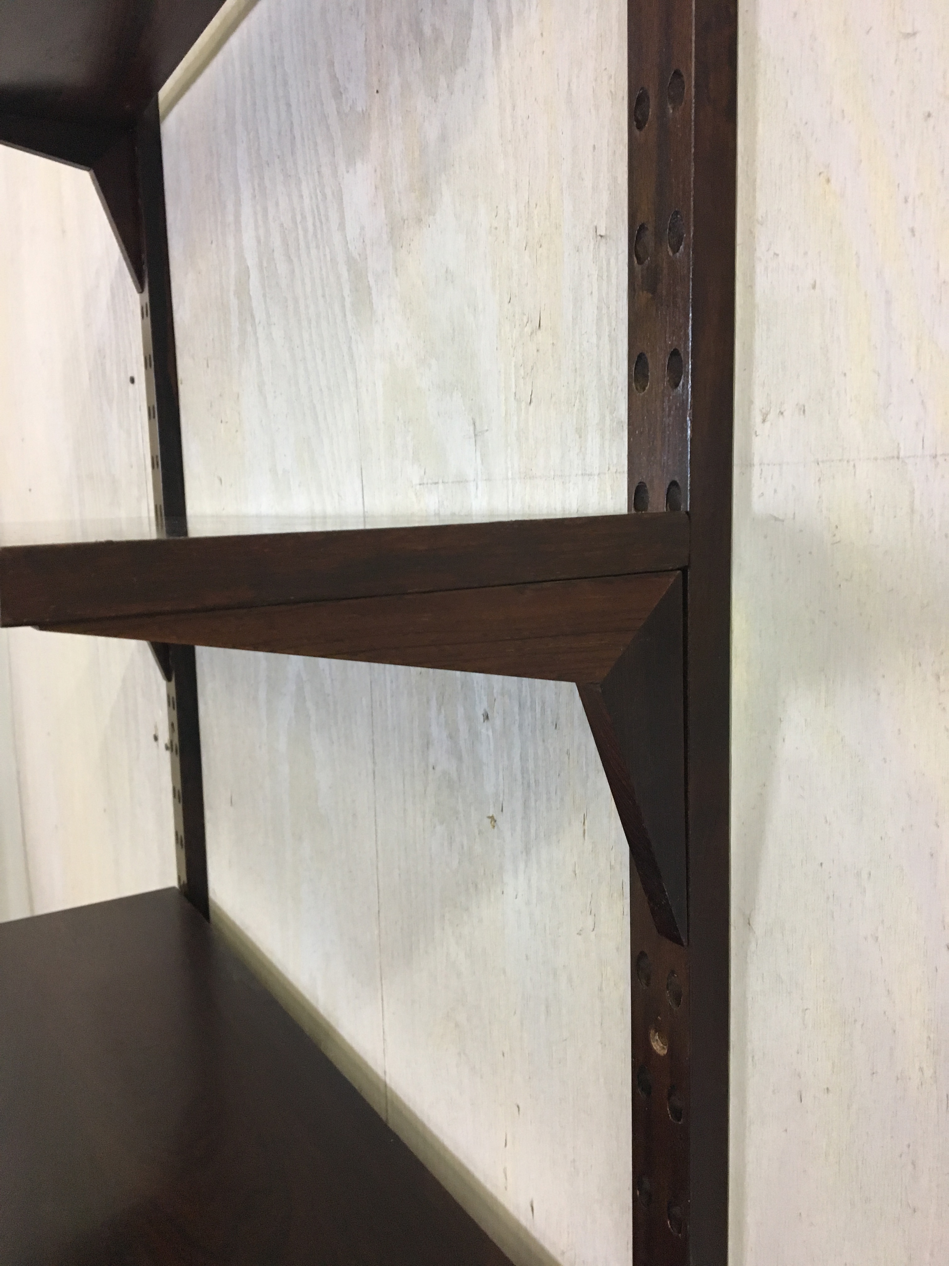 Rosewood Wall-Mounted Shelving