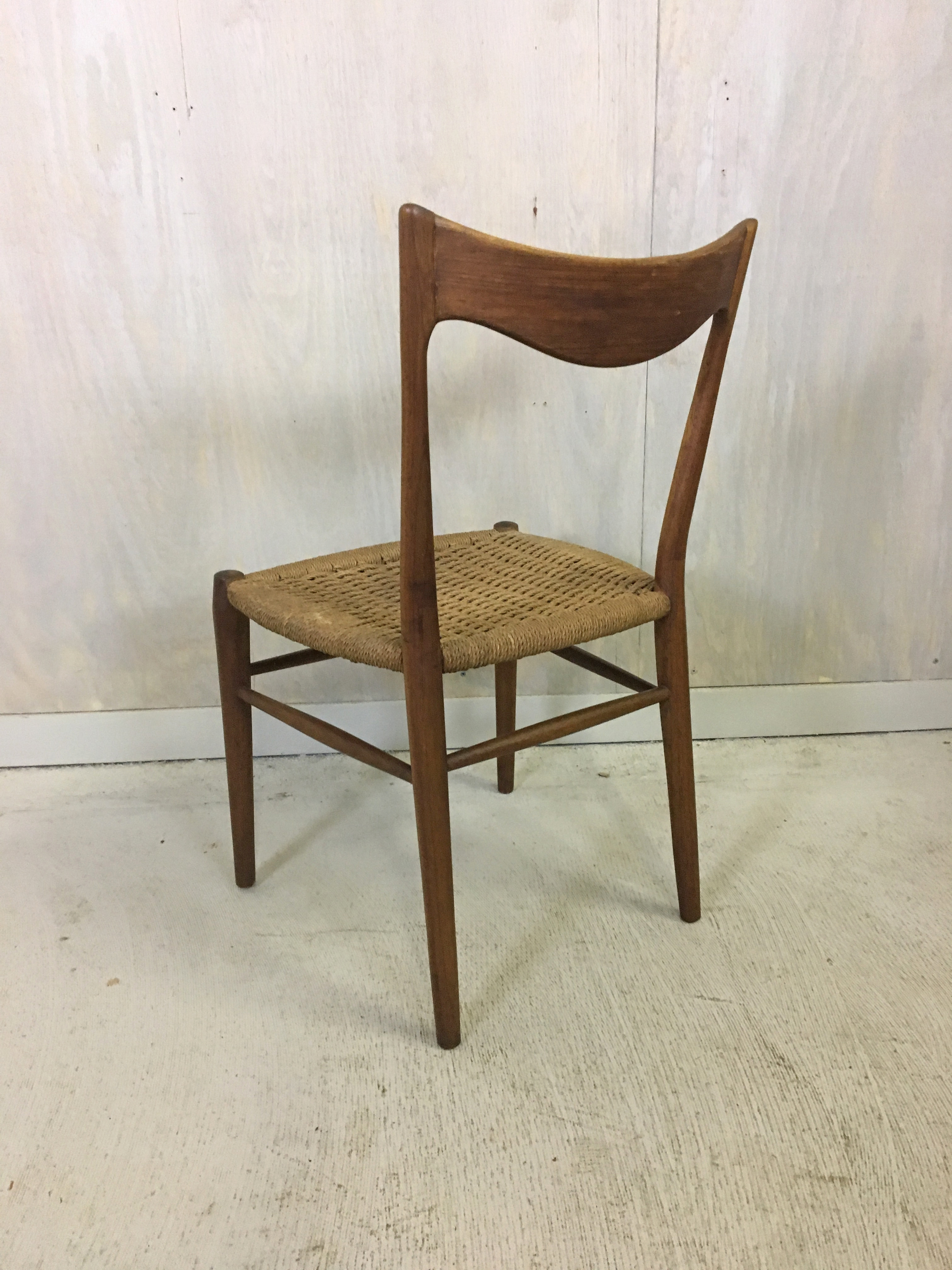 Danish Modern Teak Danish Cord Accent Chair