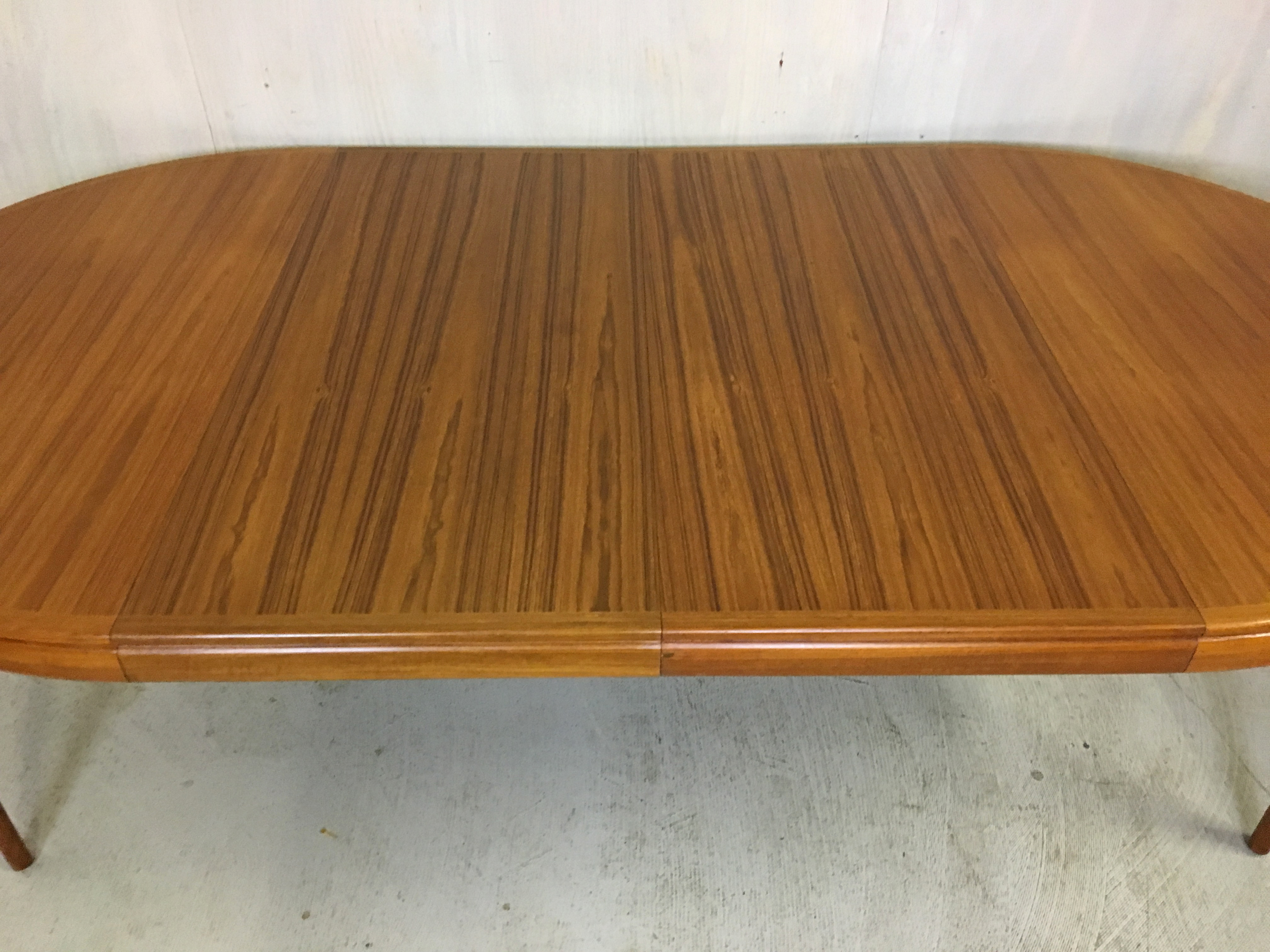 Danish Modern  Round Teak Table by Torring with Two Leaves