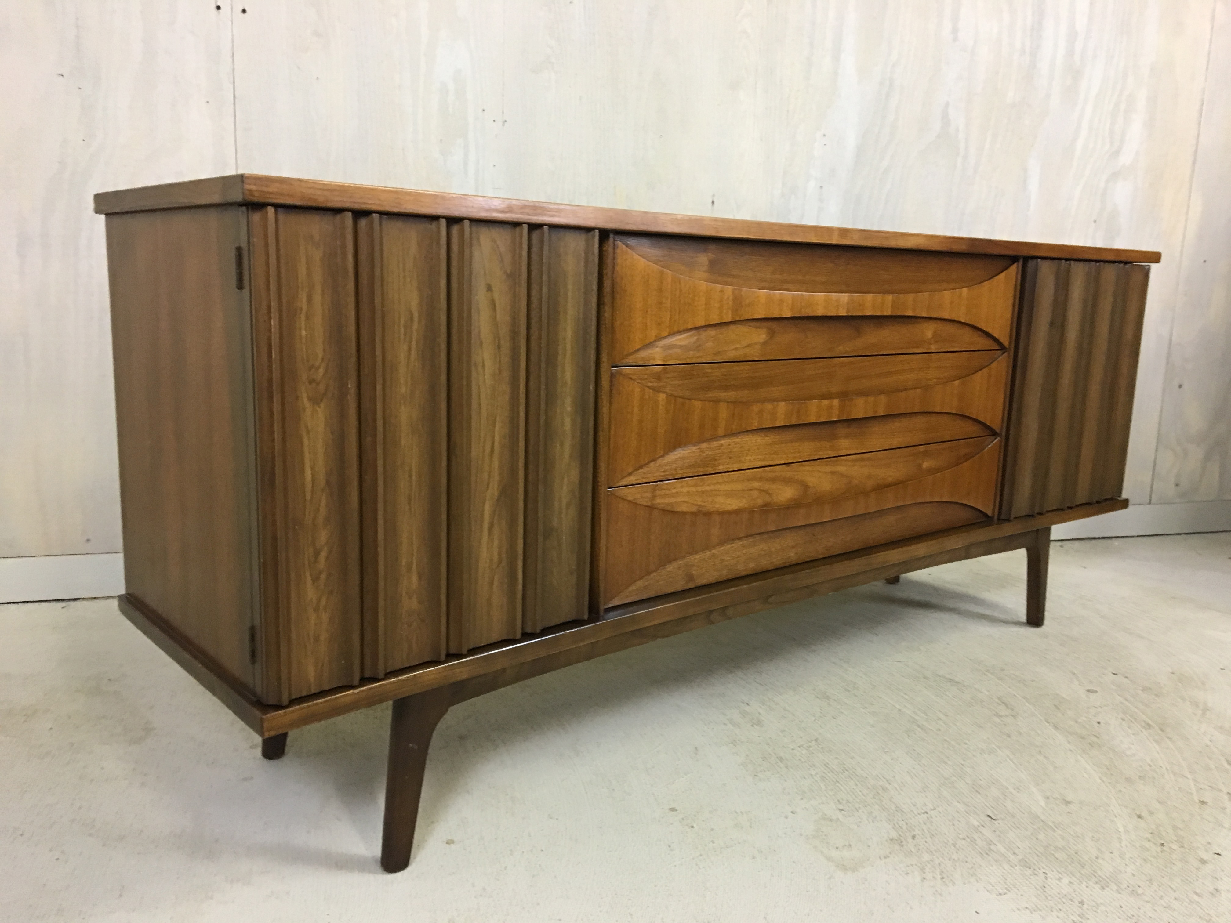 Walnut Lowboy Bureau by Young Manufacturing
