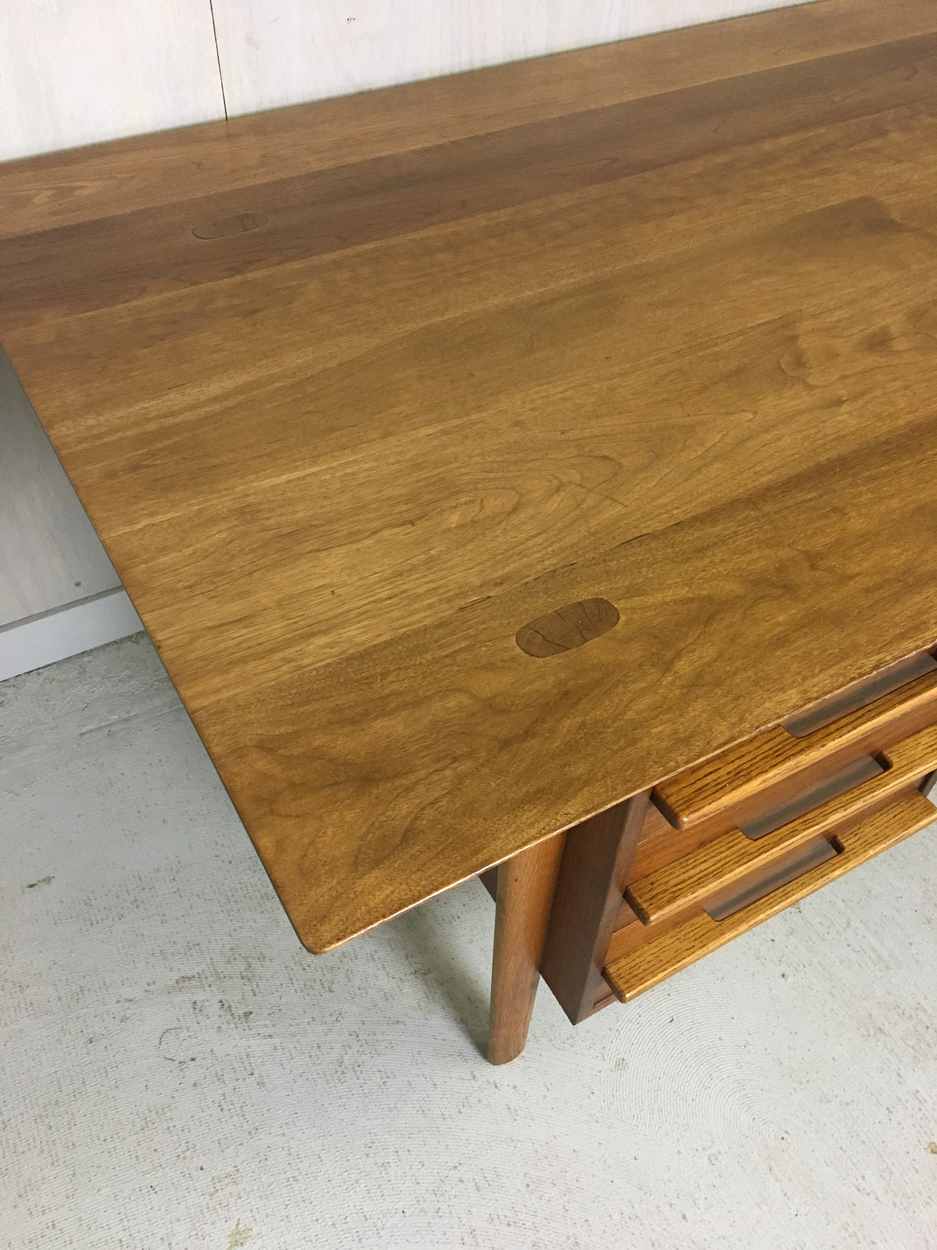 Mid Century Walnut Executive Desk