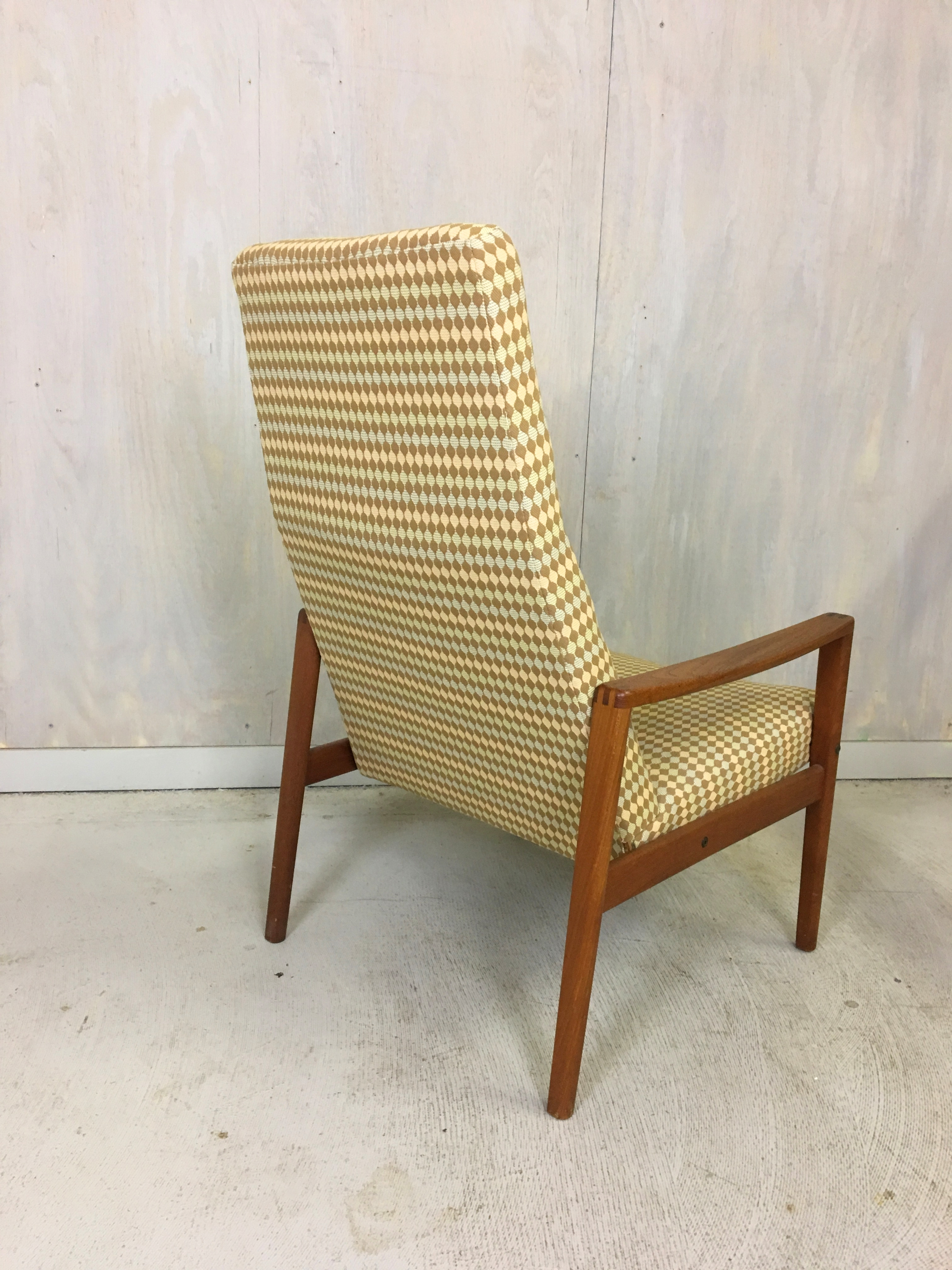 Ulferts Upholstered Lounge Chair with Teak Frame
