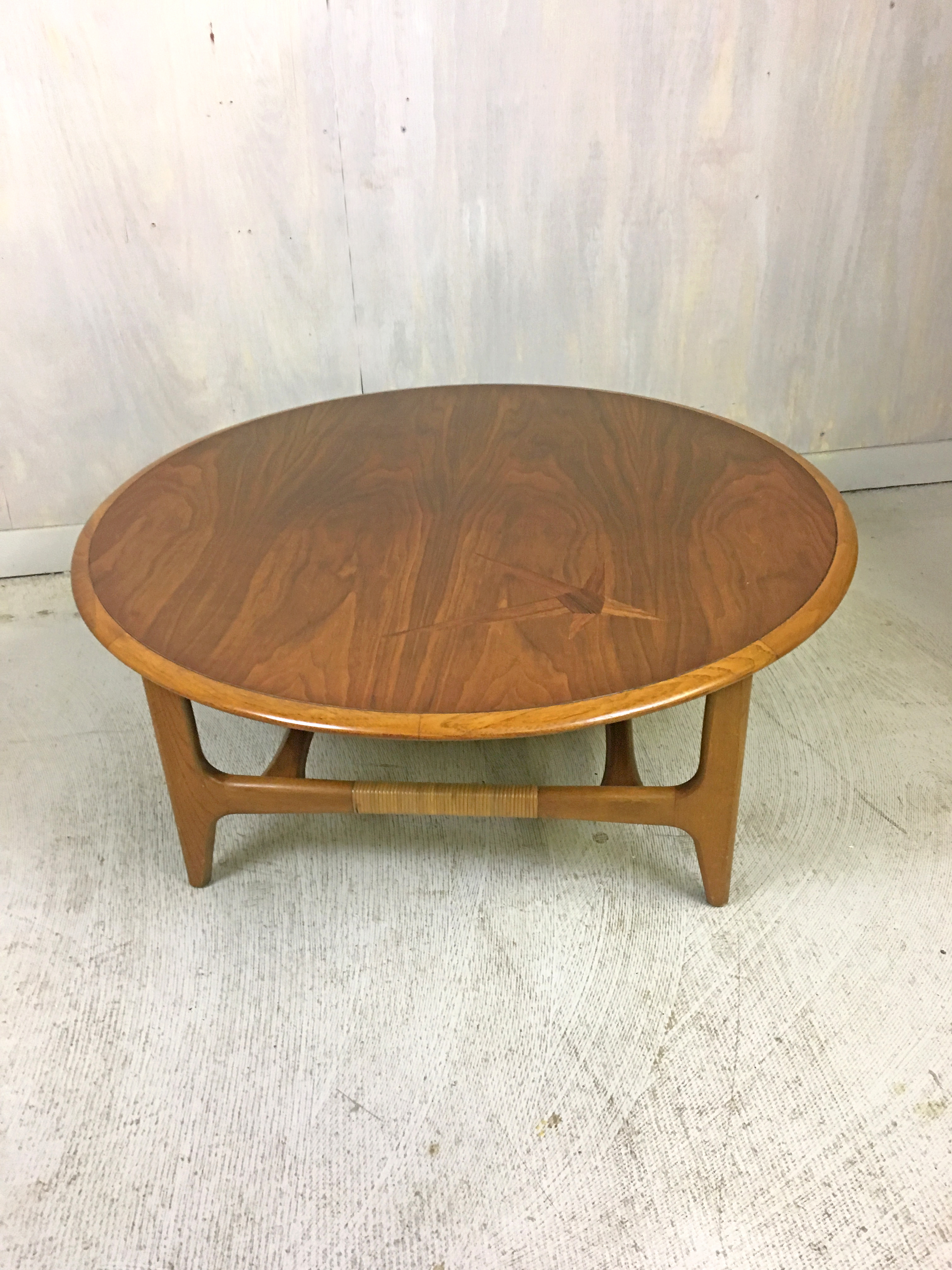 Lane Round Coffee Table With Rosewood Inlay Retrocraft
