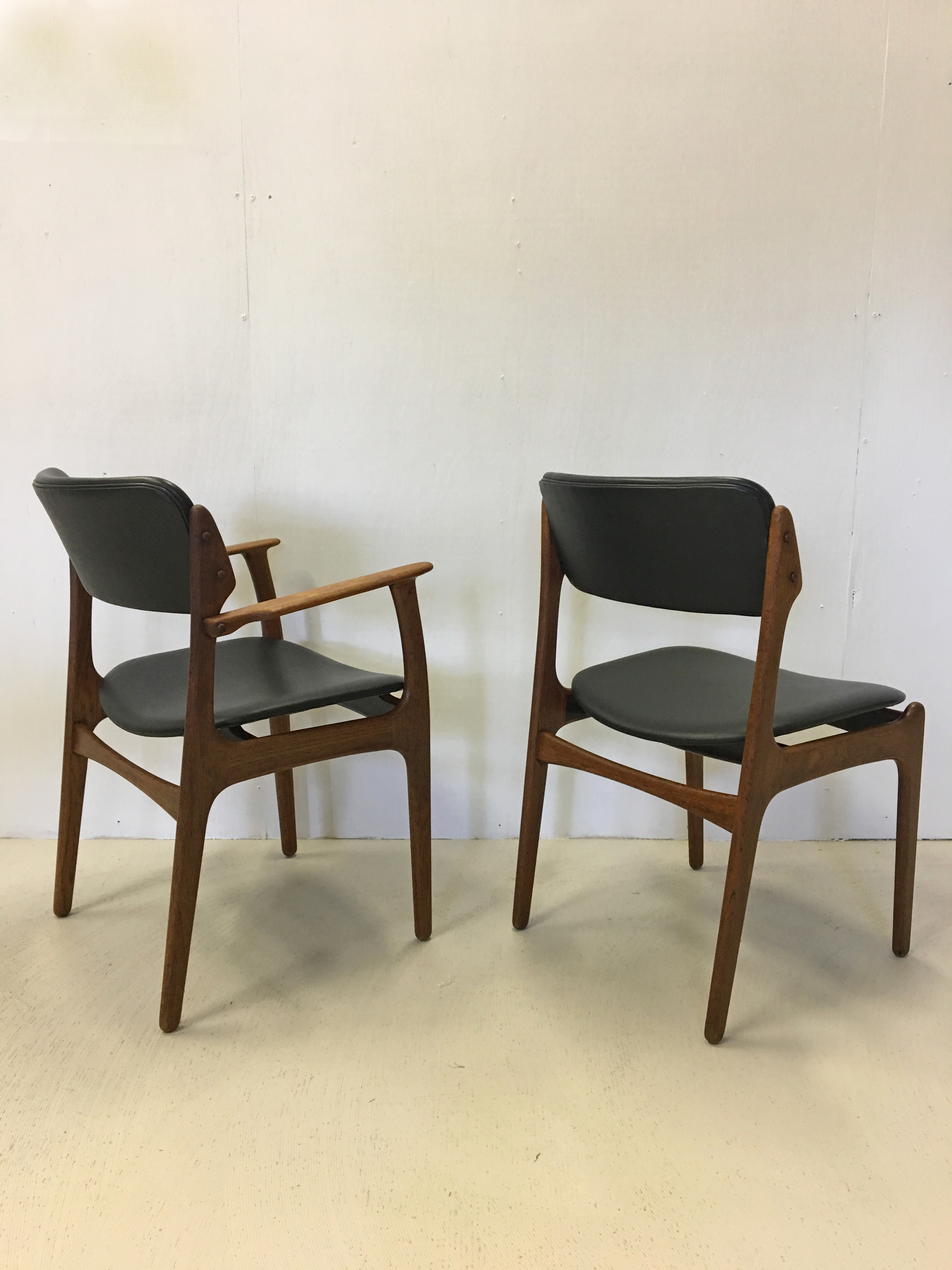 Eric Buck for Oddense Danish Modern Teak Dining Chairs