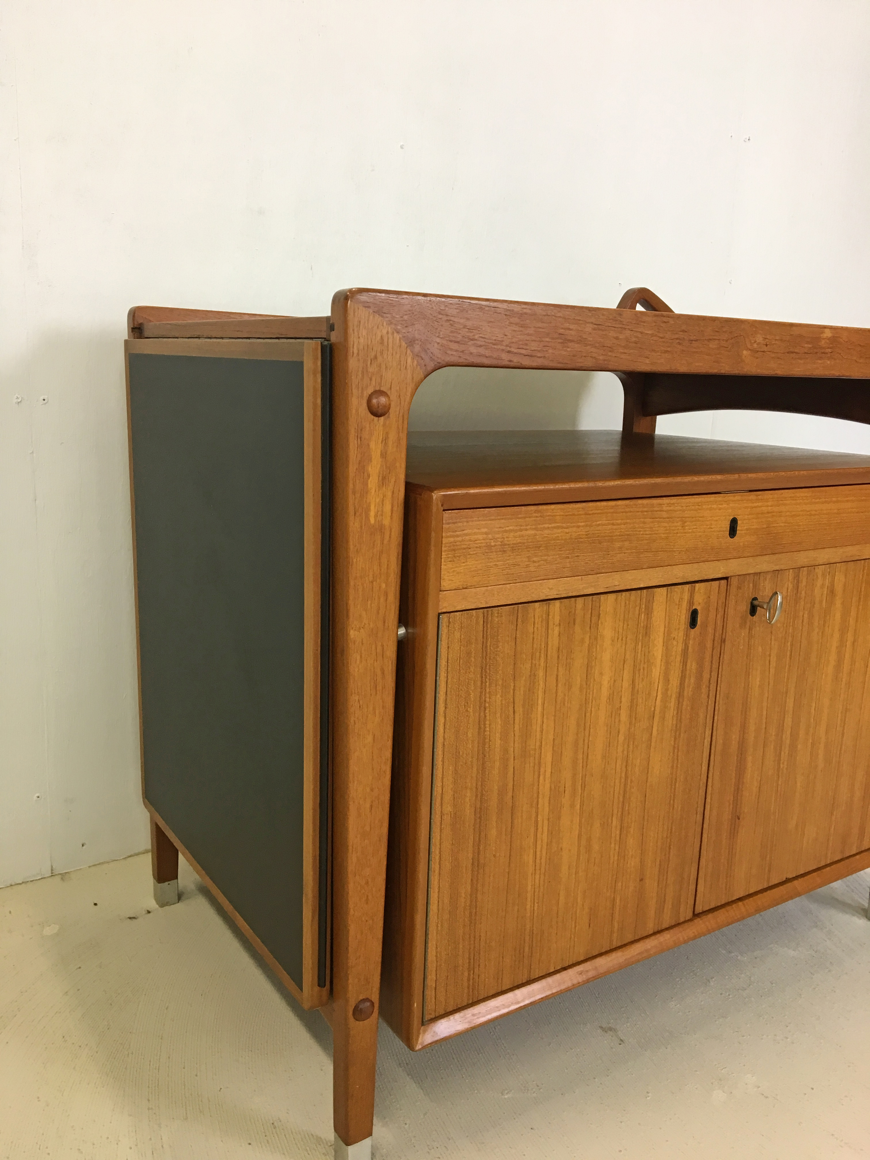 SALE - Teak Rolling Bar Cart by Dyrlund