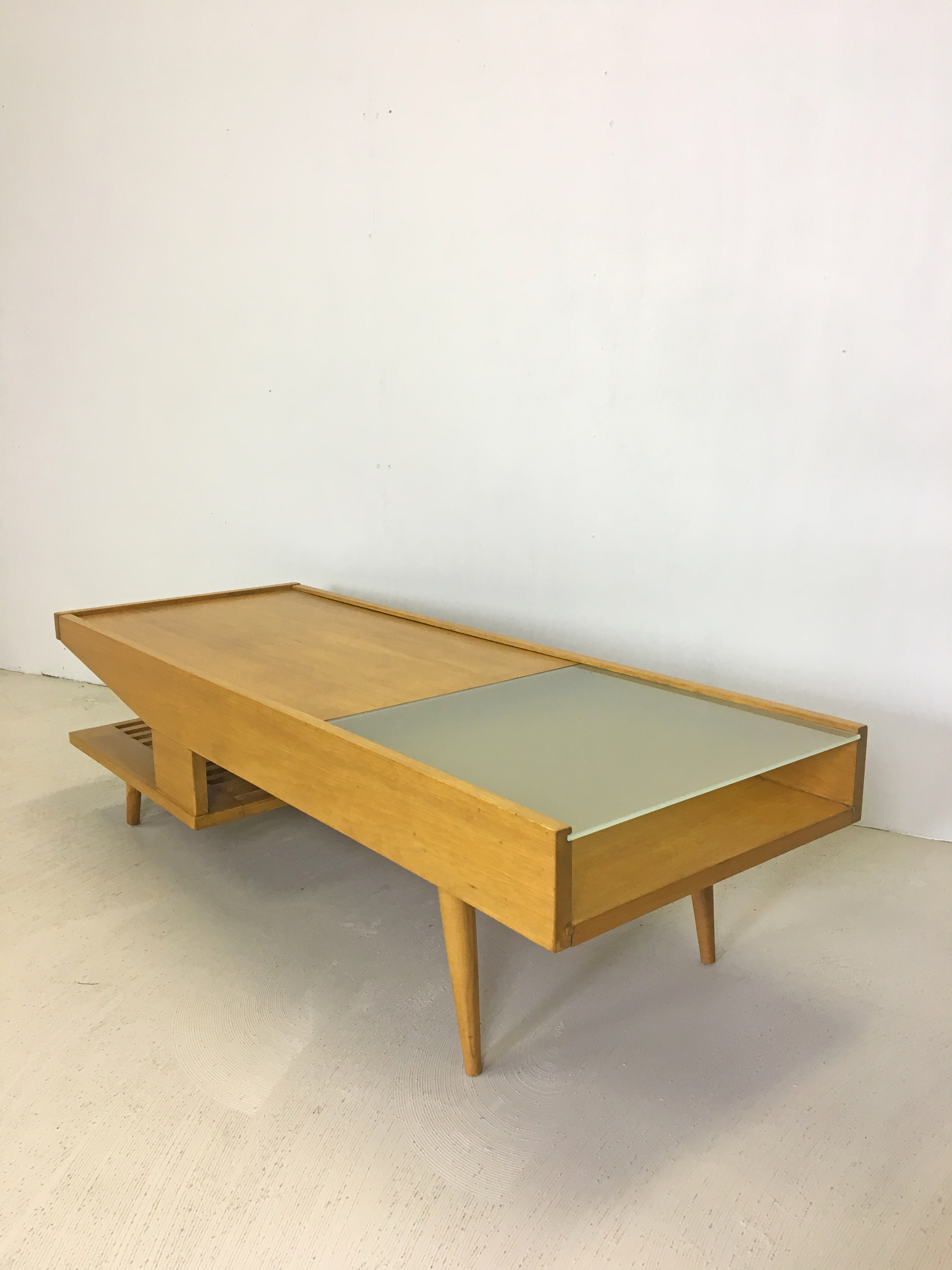 SALE - Brown Saltman Coffee Table by John Keal