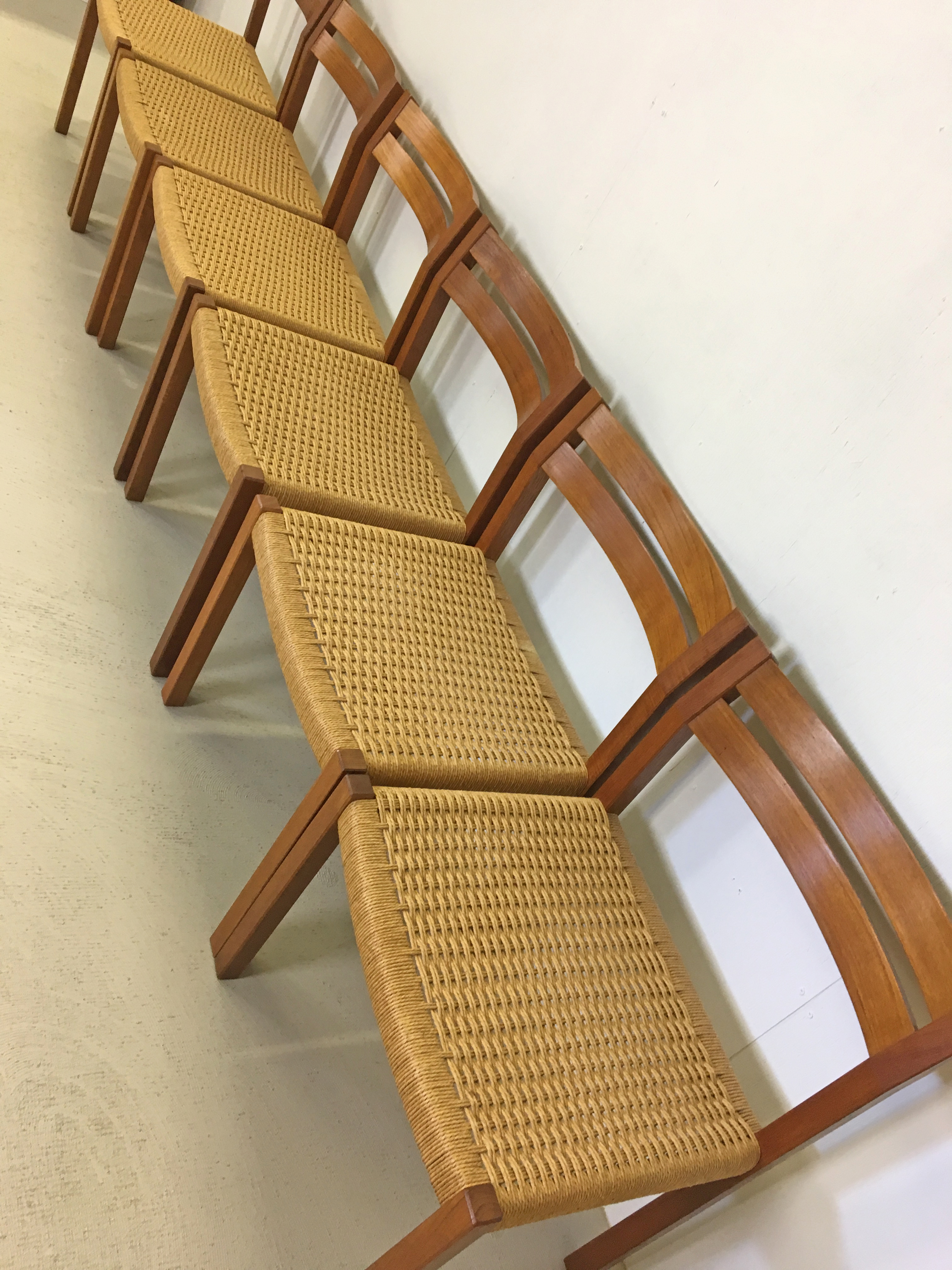 Danish Modern Teak Chairs for J.L. Moller