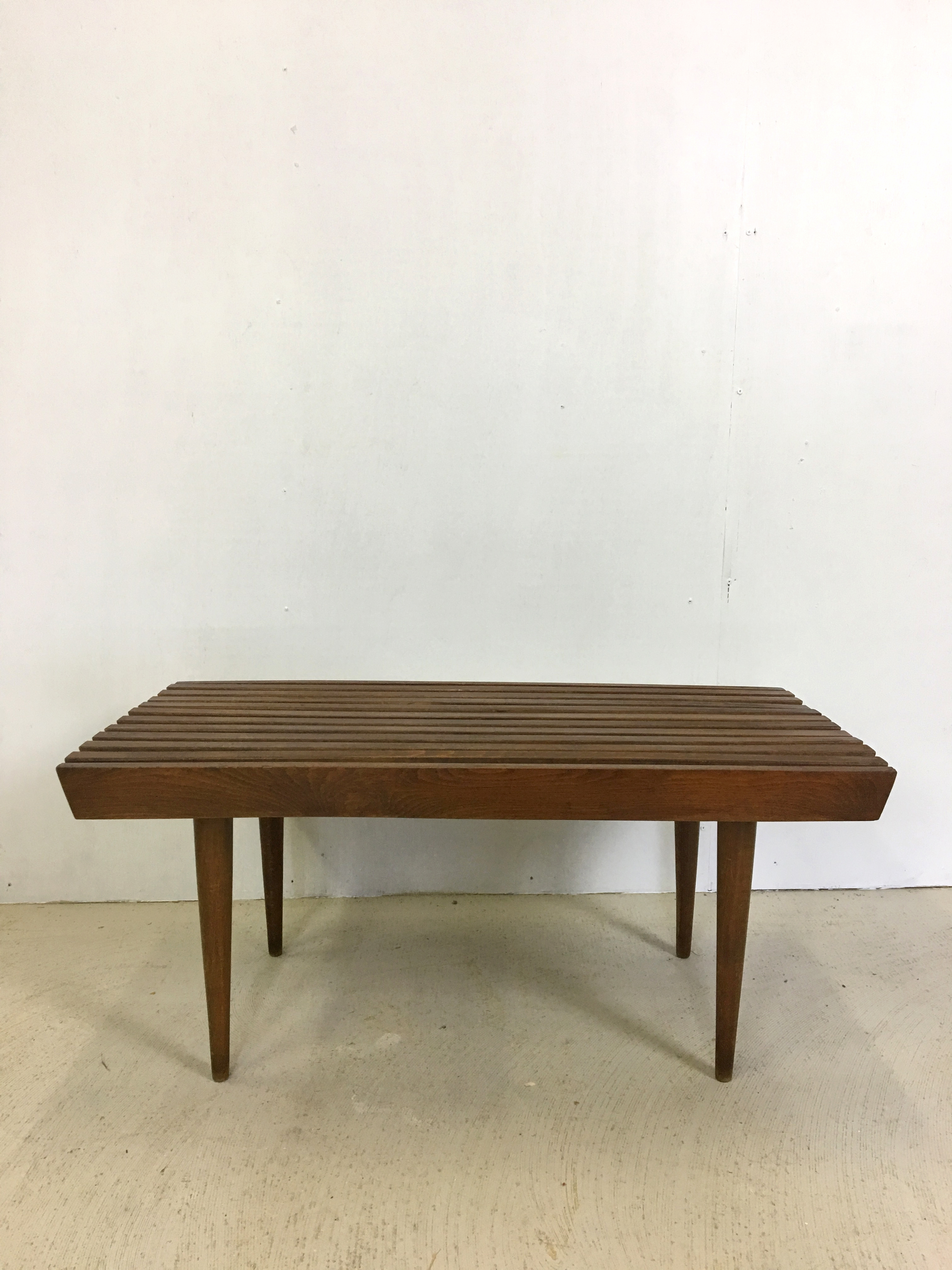 Slatted Walnut  Side Table or Bench