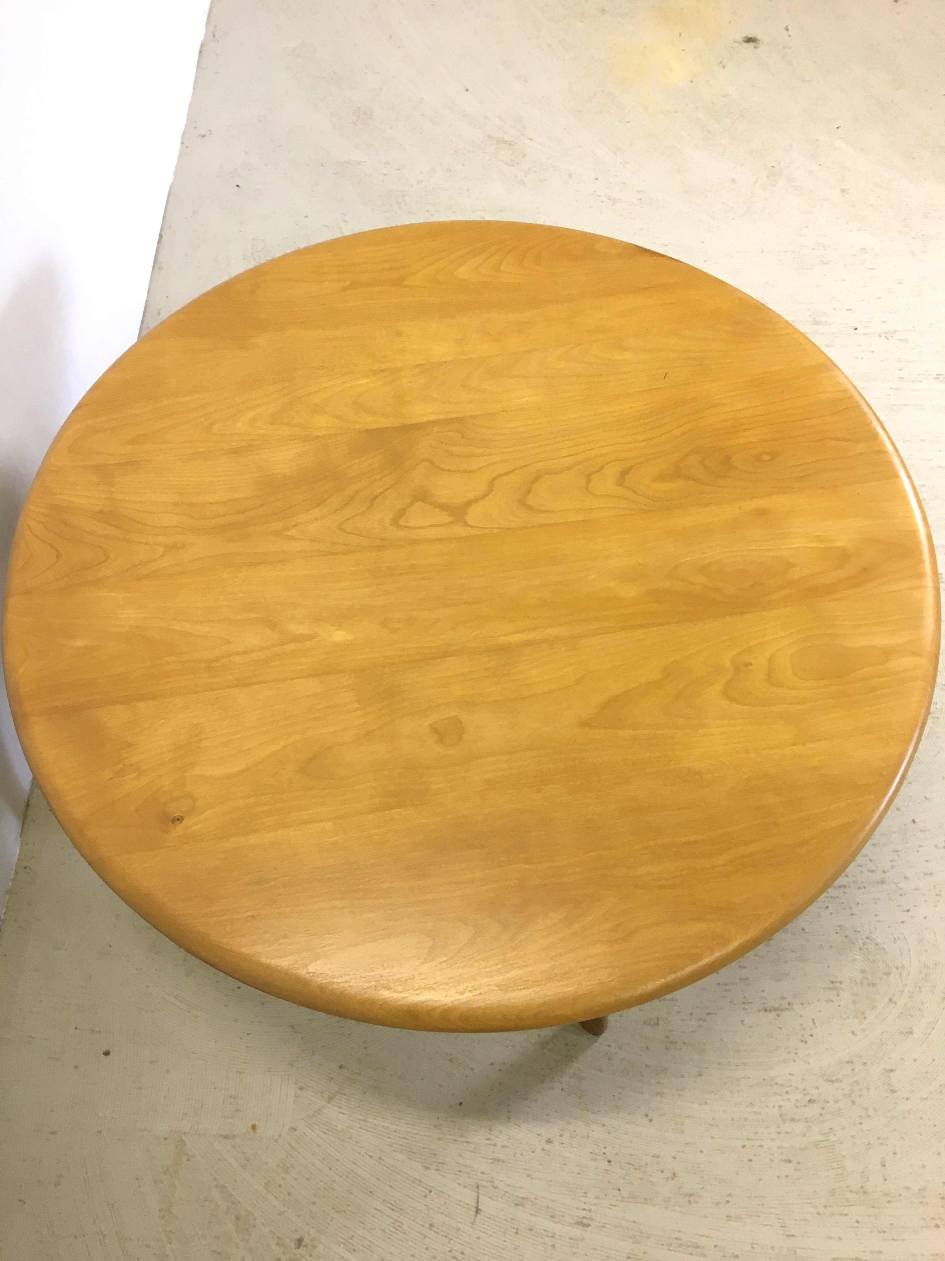 Heywood Wakefield Lazy Susan Round Coffee Table