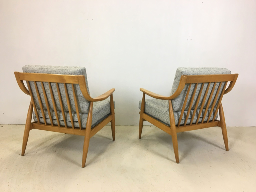 Pair of Conant Ball Lounge Chairs by Russel Wright