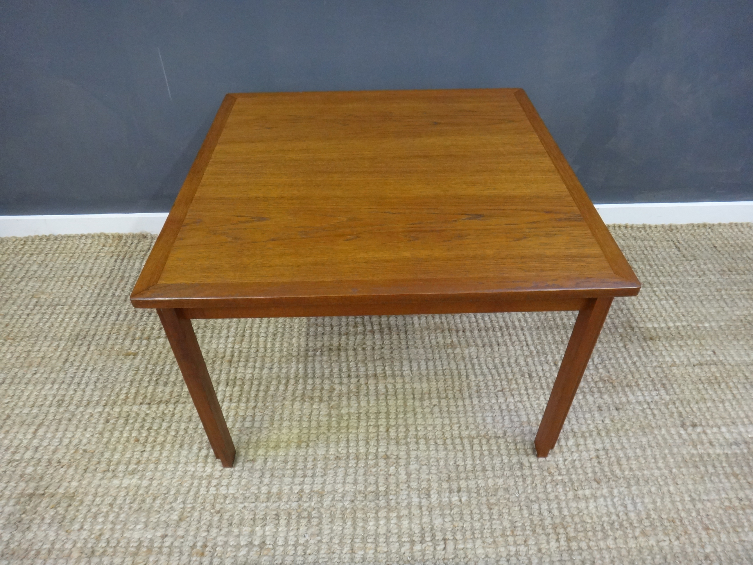 Mid Century Square Teak Coffee Table