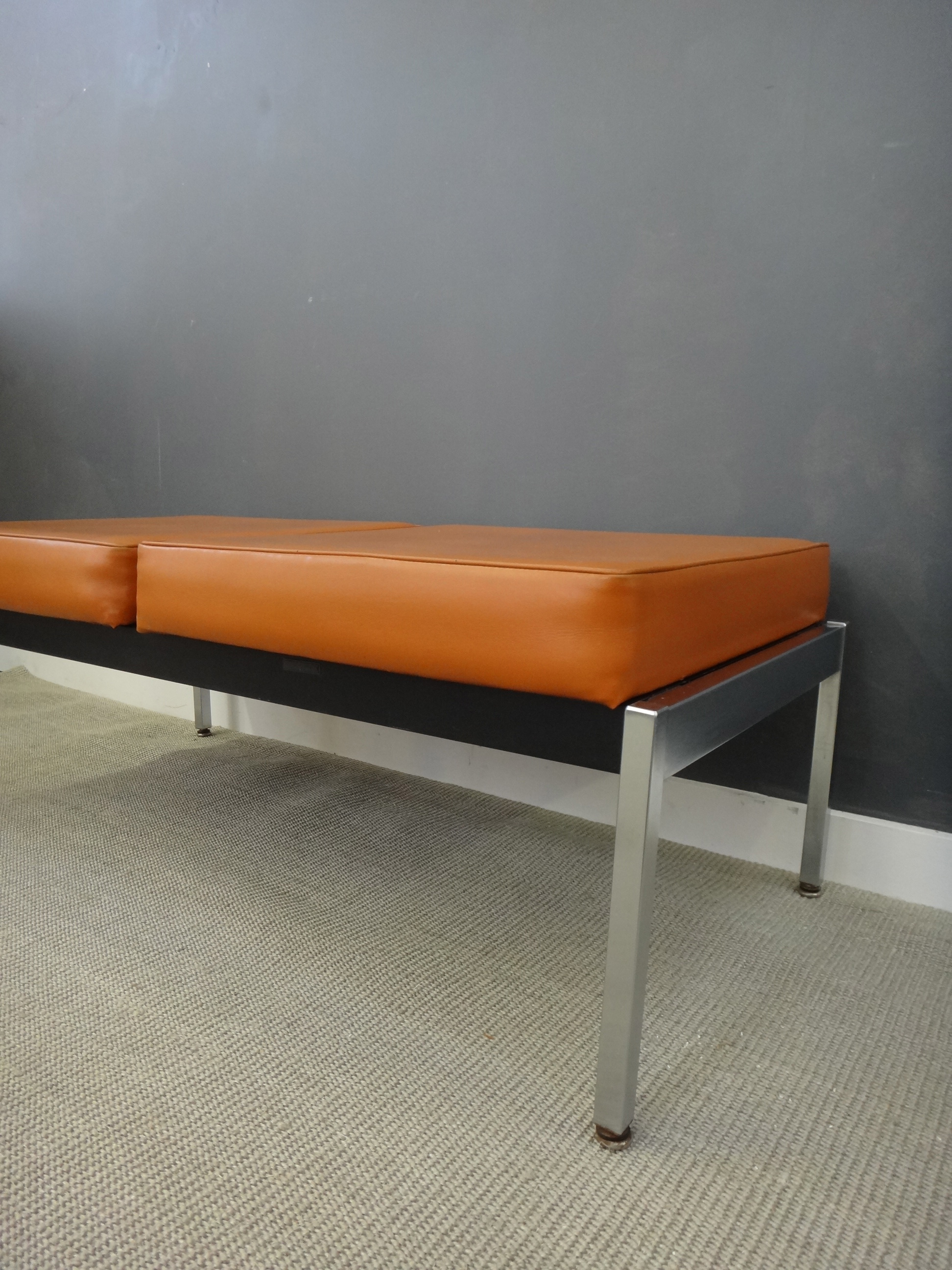 Harter Chrome and Vinyl Bench