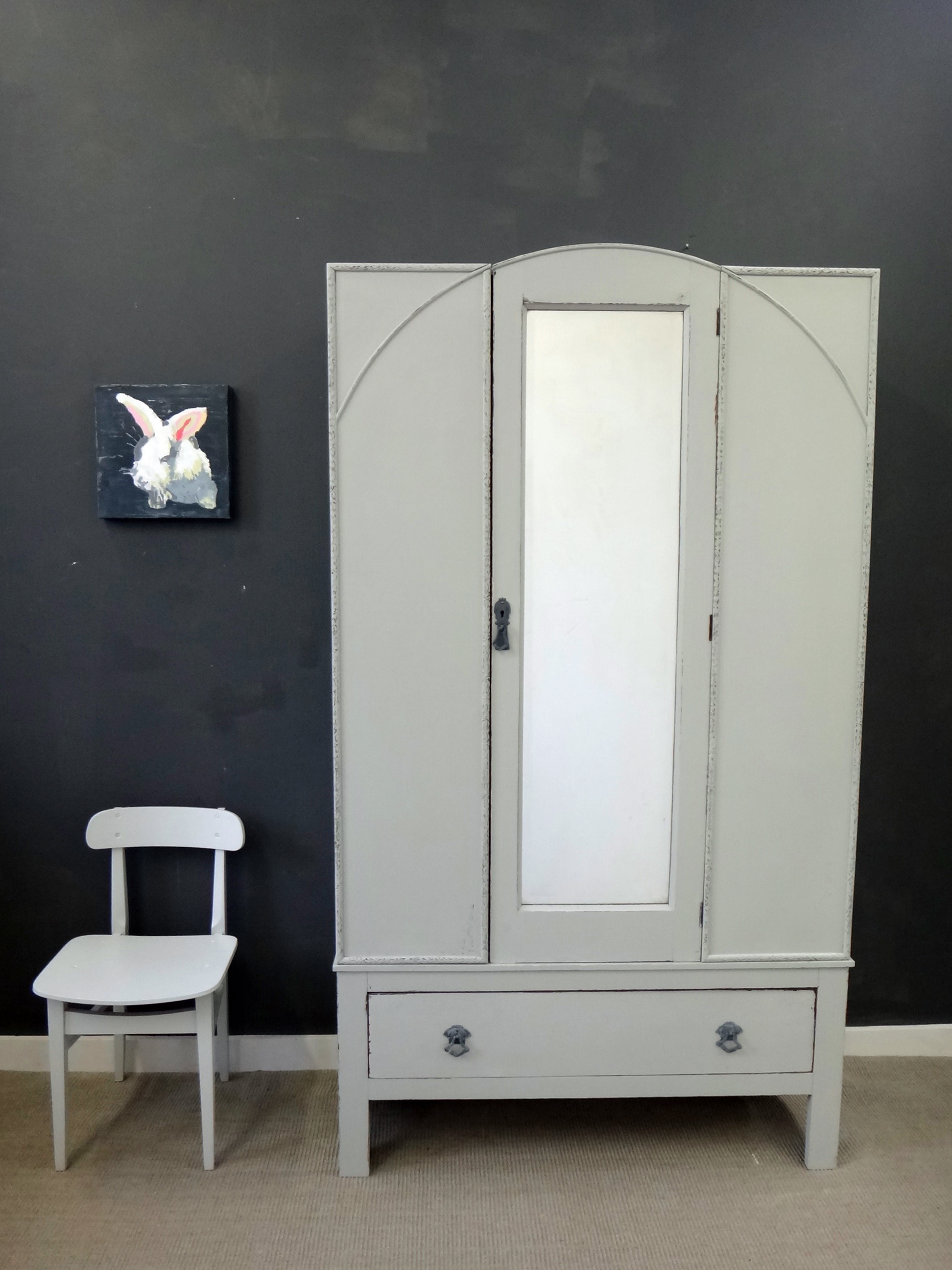 Antique Painted Armoire