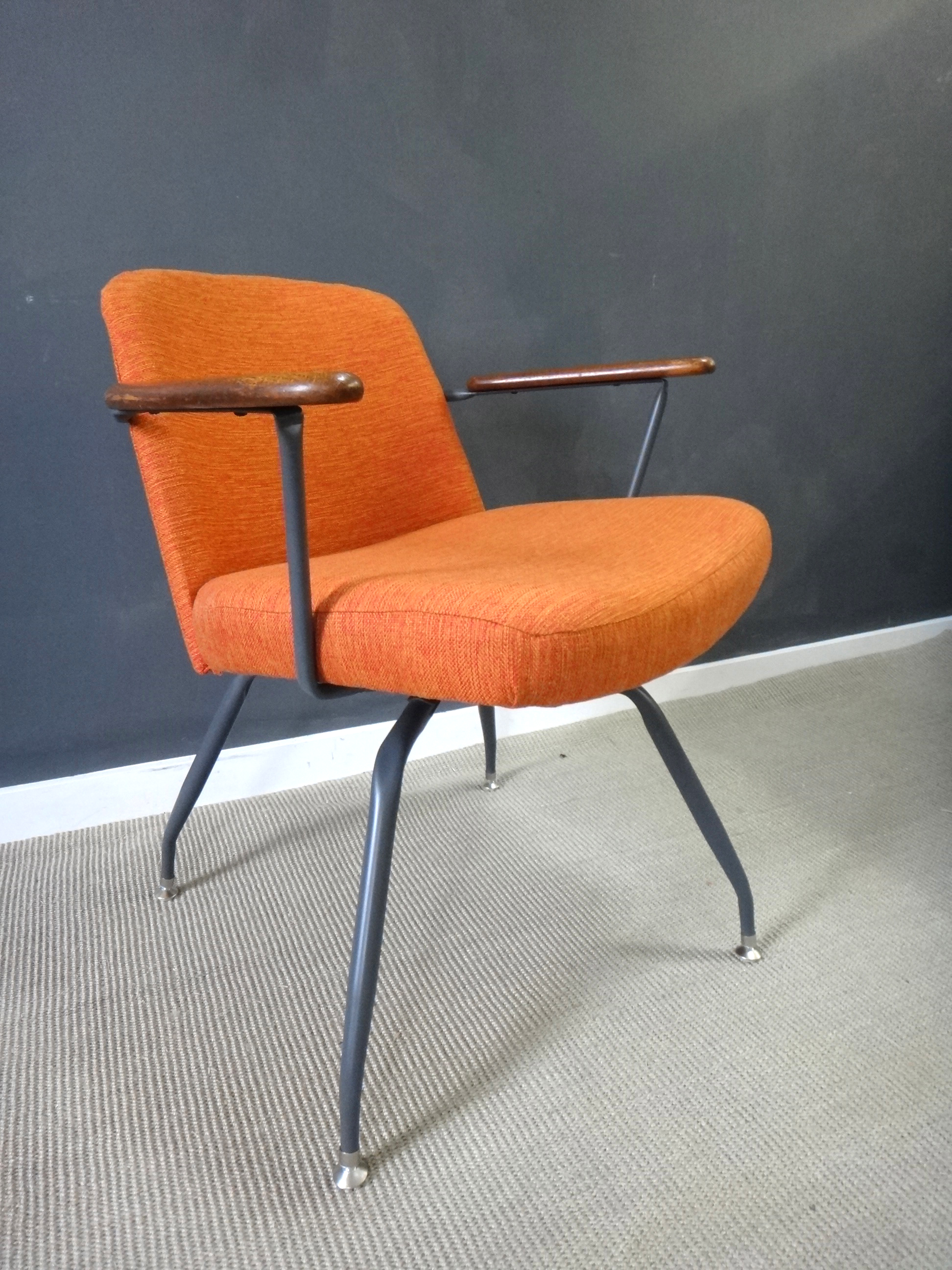 ... Pair Mid Century Upholstered Seng Chairs ... & Pair Mid Century Upholstered Seng Chairs - Retrocraft Design ...