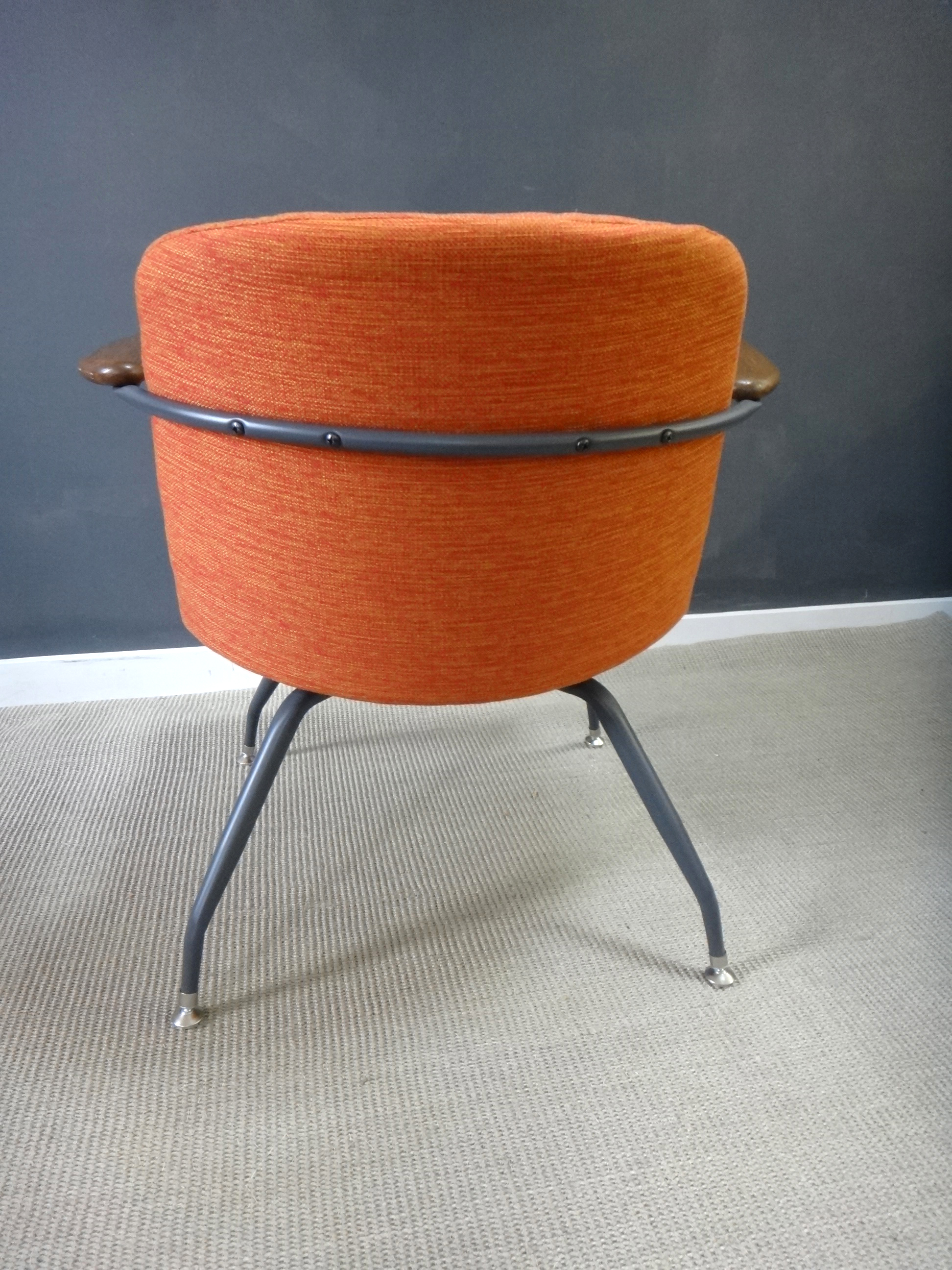 ... Pair Mid Century Upholstered Seng Chairs & Pair Mid Century Upholstered Seng Chairs - Retrocraft Design ...