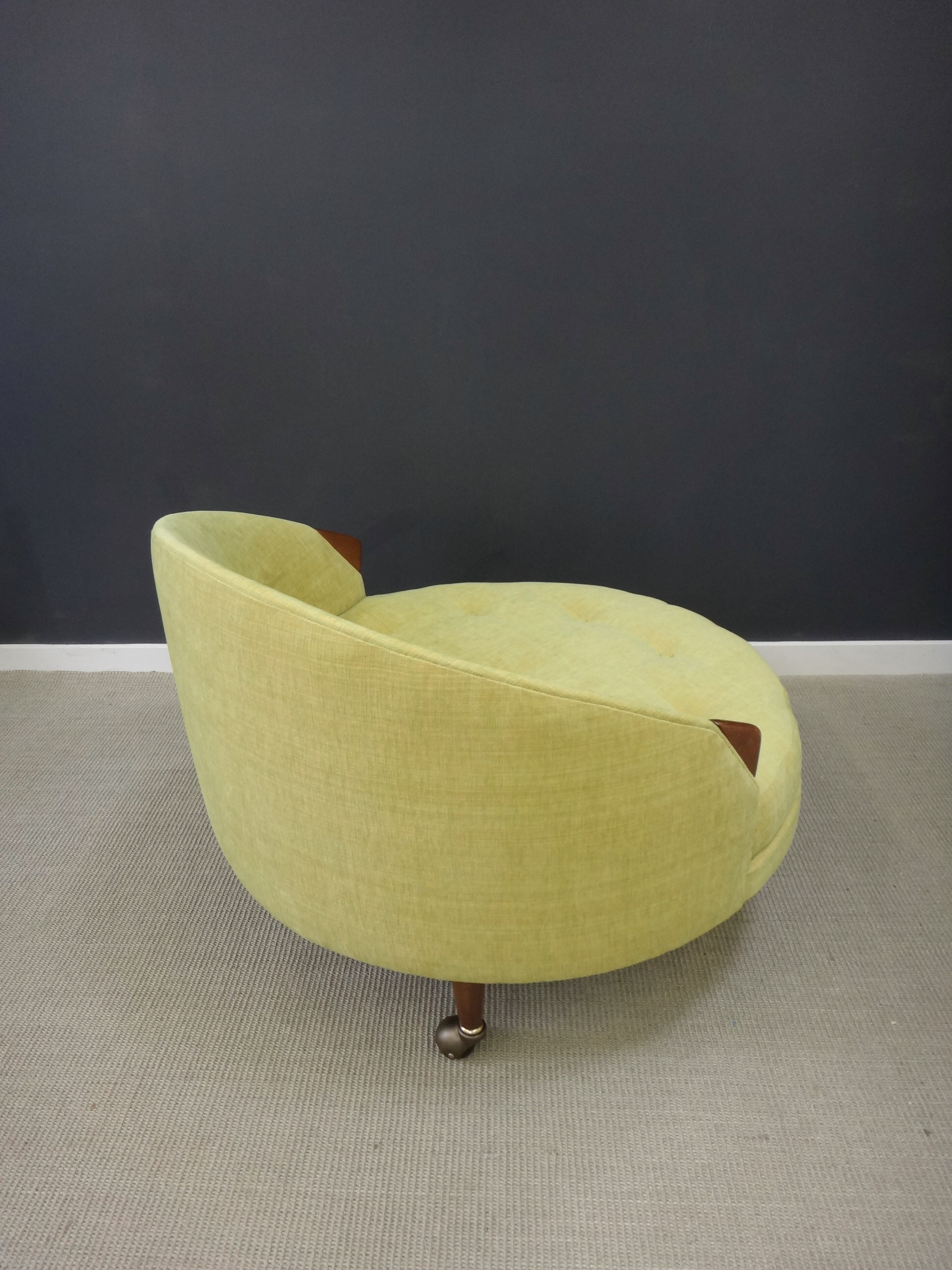 Adrian Pearsall  Round Upholstered Chair