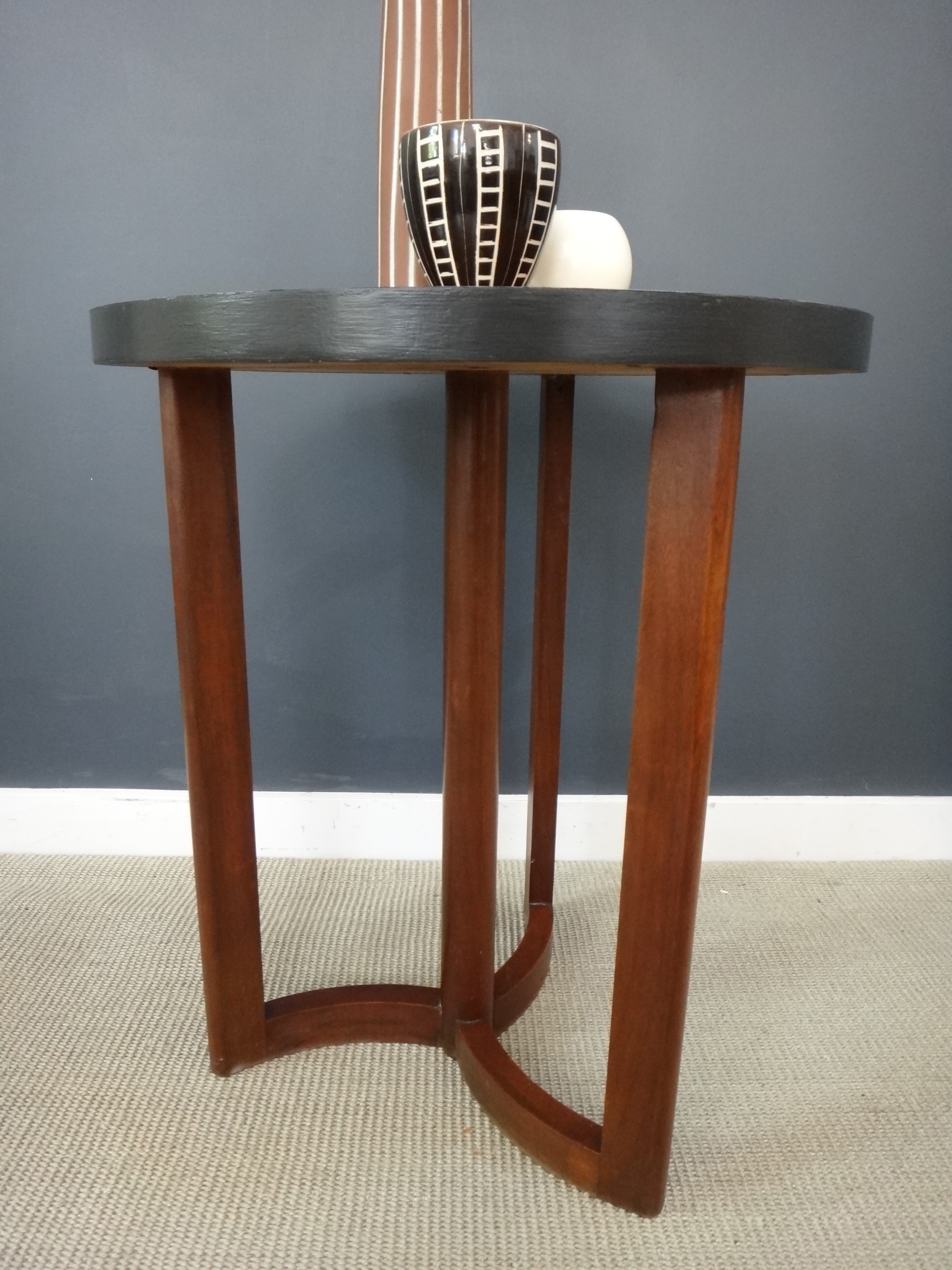Round Teak Side Table